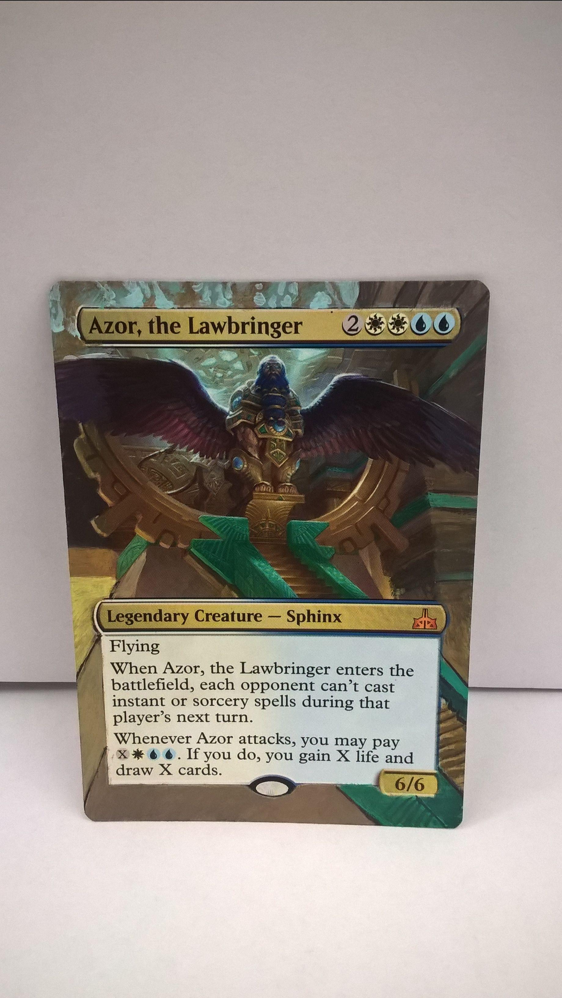 Azor The Lawbringer Mtg Altered Art Manipulatedmtg Azor002