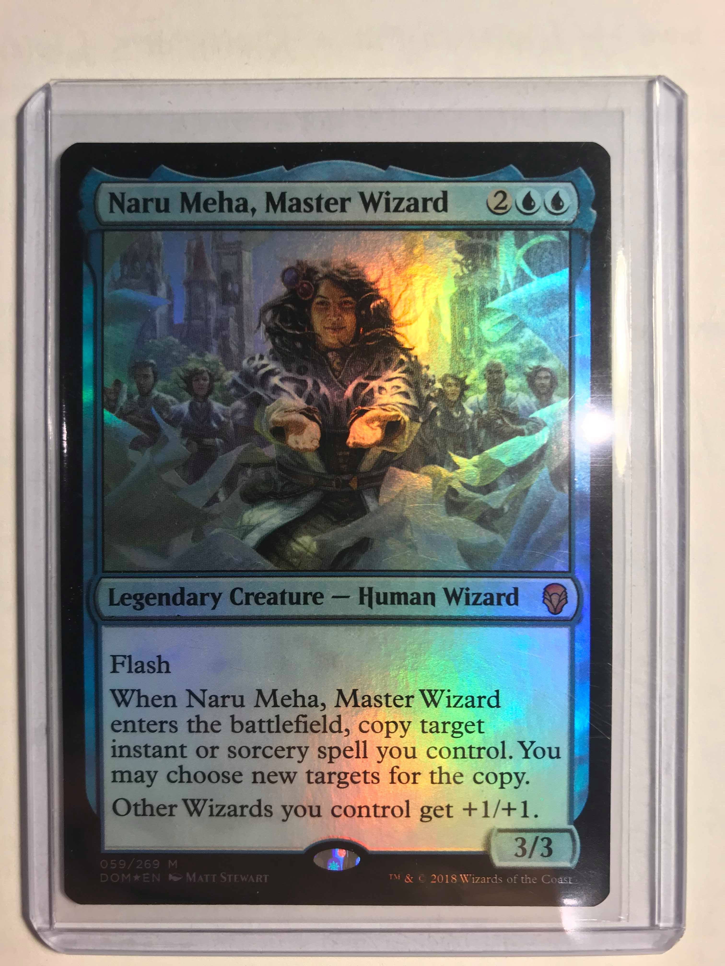 Dominaria NM//M NARU MEHA MTG MASTER WIZARD 059//269 MYTHIC RARE