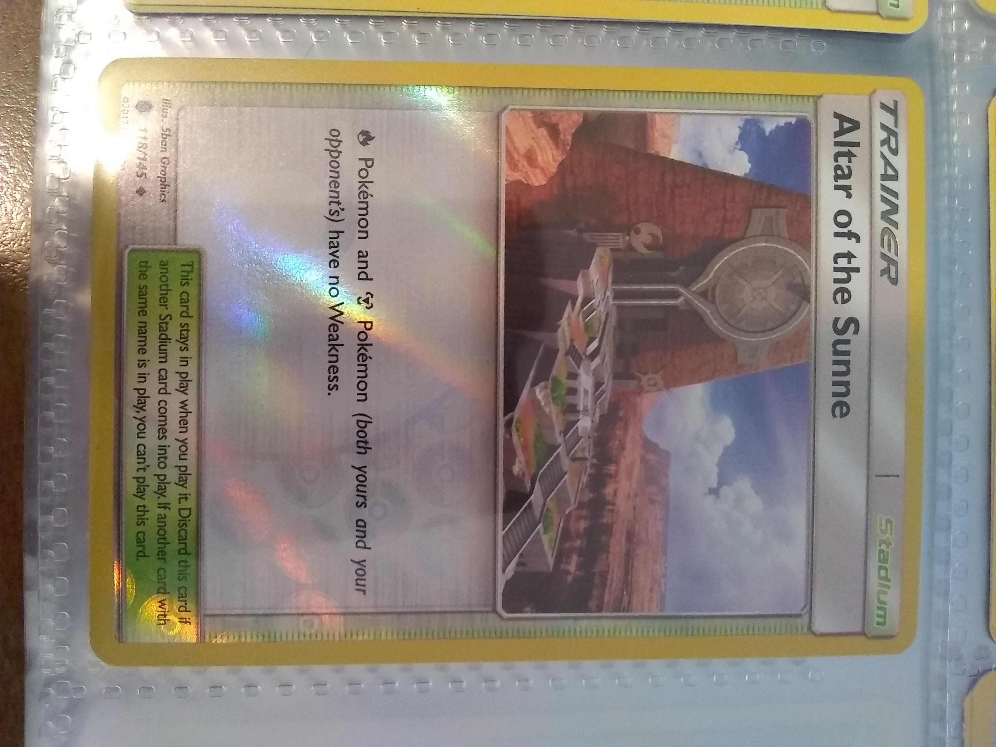 POKEMON SUN /& MOON GUARDIANS RISING CARD 118//145 ALTAR OF THE SUNNE