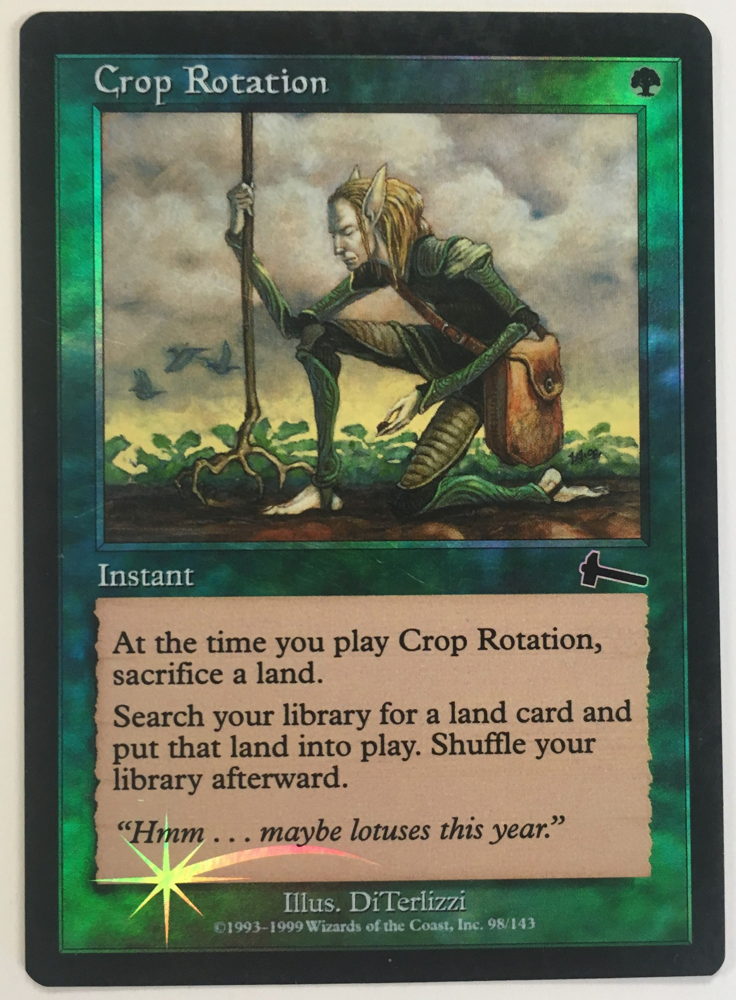 White Eighth 8th Edition Mtg Magic Uncommon 1x x1 1 FOIL Peach Garden Oath