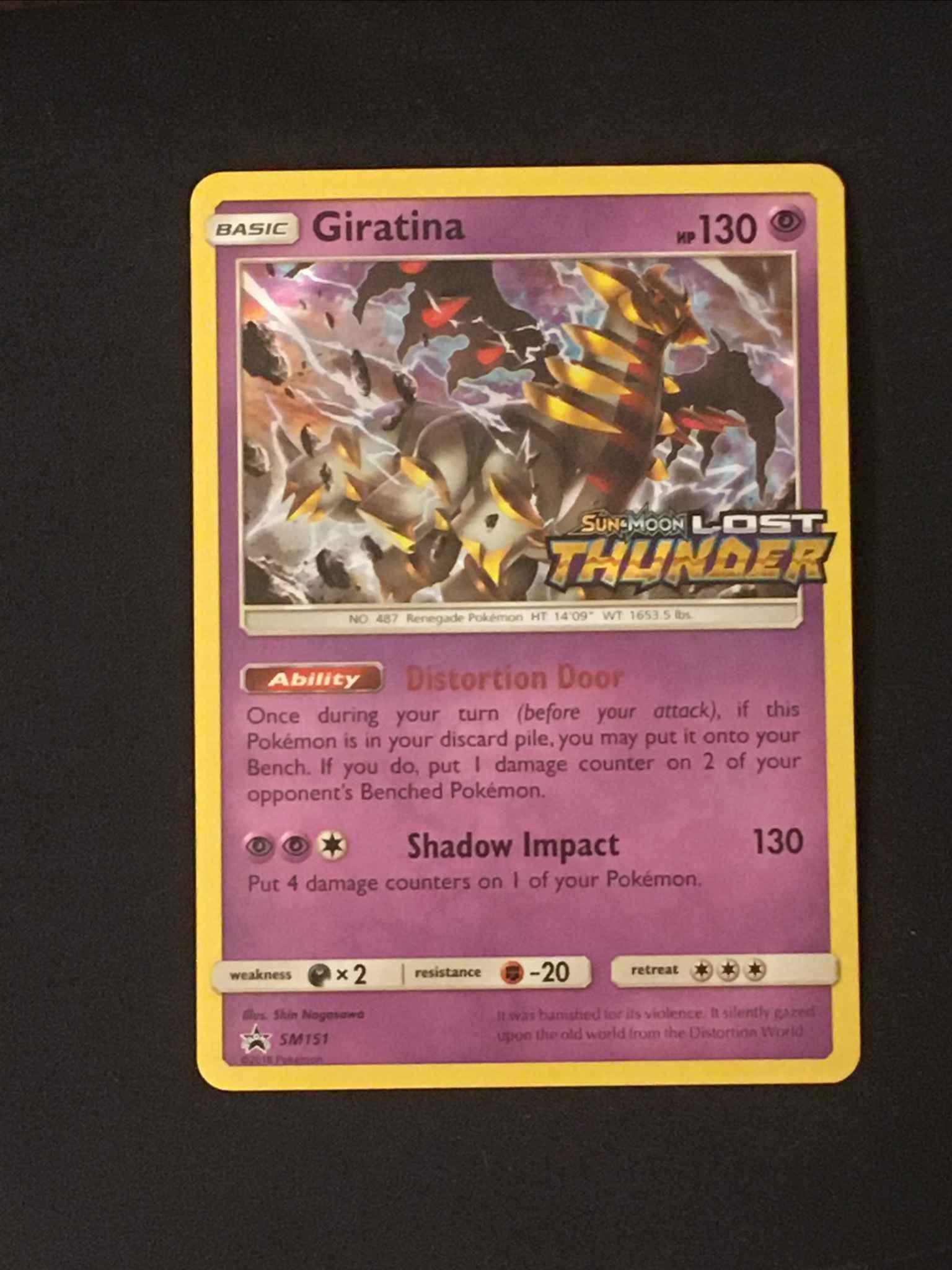 SM151 Giratina Pre-Release Promo NM Promo Pokemon