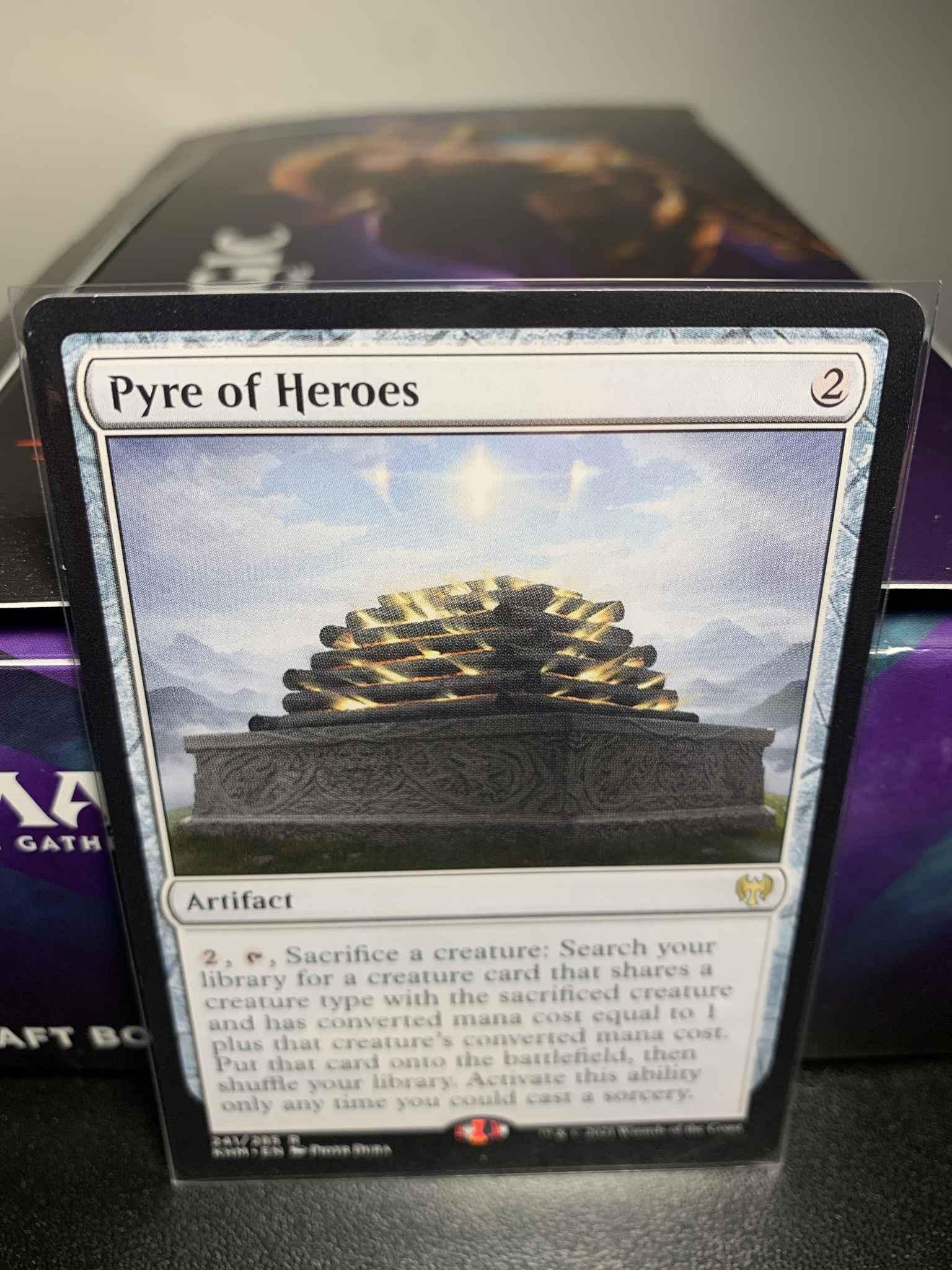 Kaldheim NM//M PREORDER Pyre of Heroes EXTENDED MTG