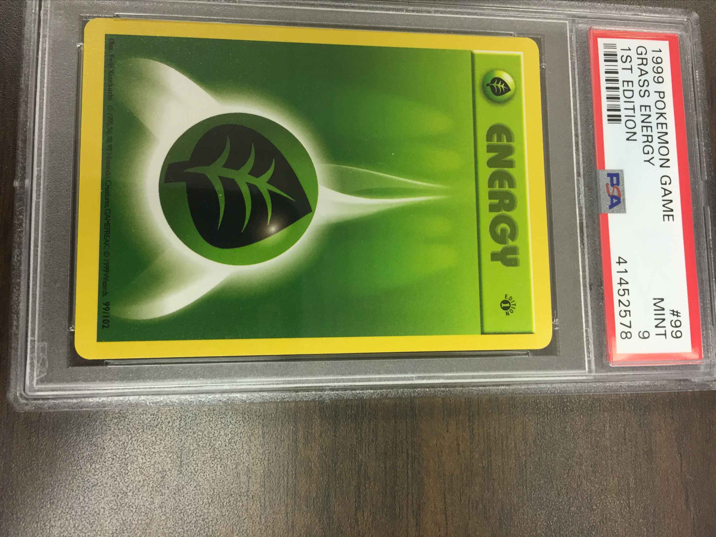 Grass Energy #99//102 Base Set Common Pokemon 1999 TCG Card