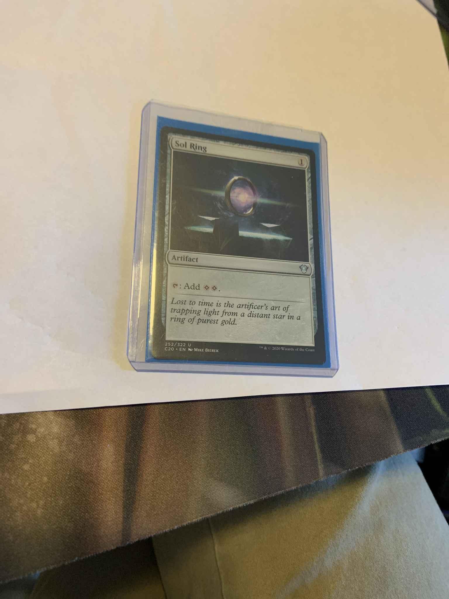 C20 Magic the Gathering MTG SOL RING x4 NM Commander 2020