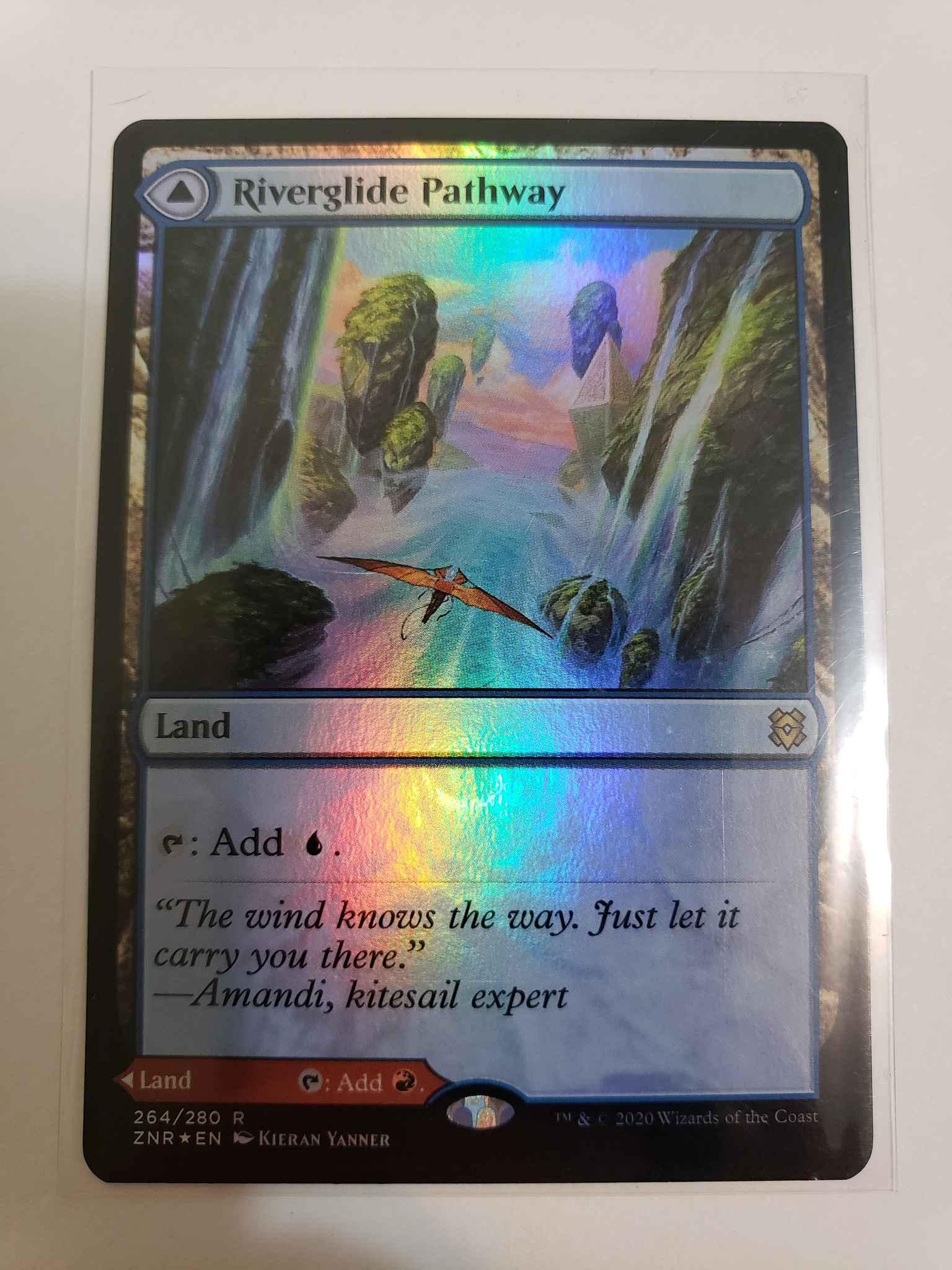 Riverglide Pathway////Lavaglide Pathway 264//280 RARE Zendikar Rising ZNR