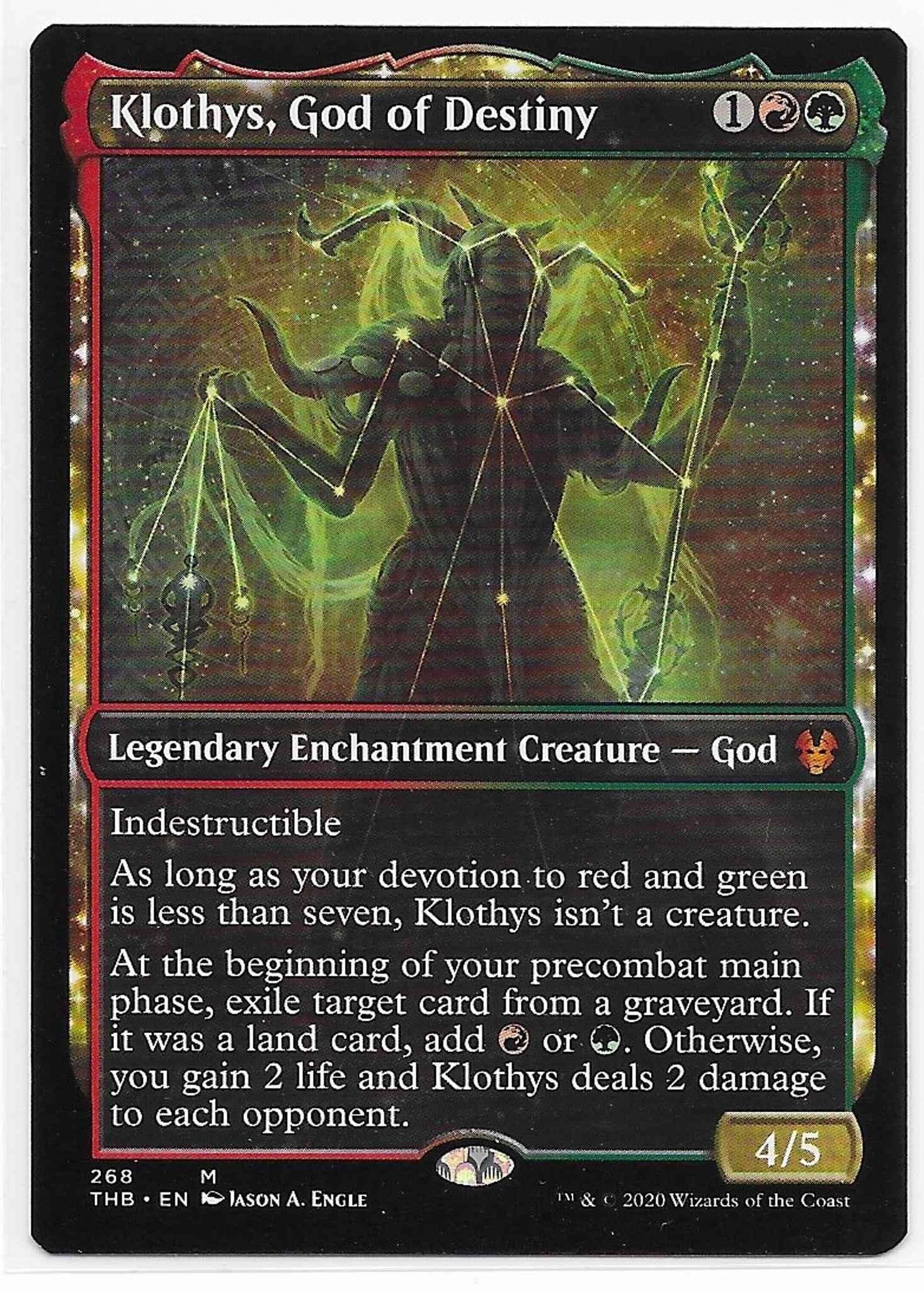 God of Destiny ~ Theros Beyond Death NearMint Magic MTG Klothys