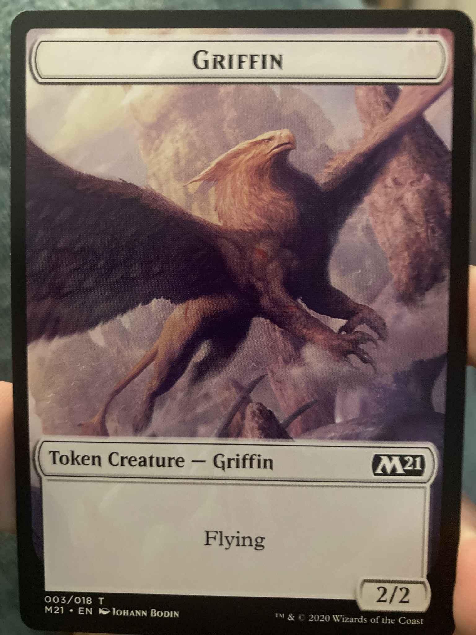 Core Set 2021 Mtg x4 4x M21 Magic Griffin Token 003