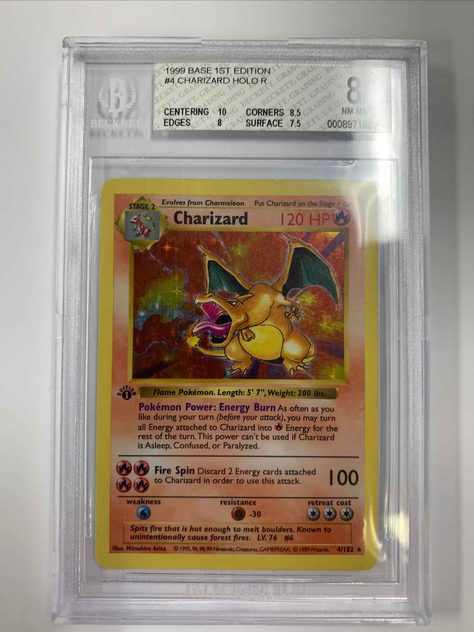 MINT 1999 Pokemon CHARIZARD Base Set WOTC 10 card RePack READ DESCRIPTION