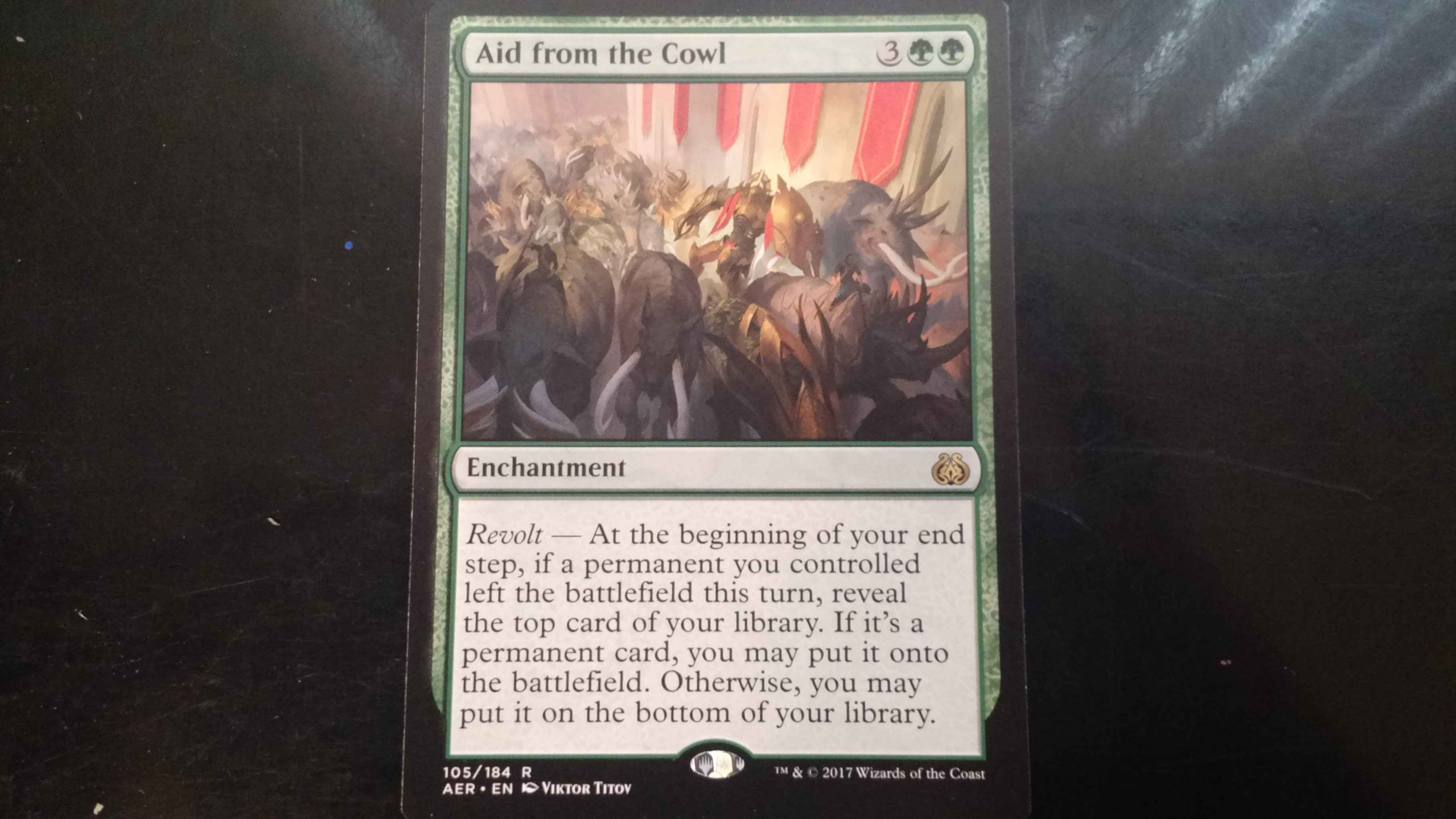 Aid from the Cowl Aether Revolt