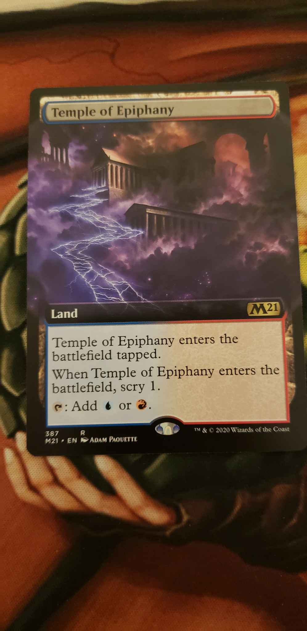 Magic the Gathering Core Set 2021 MTG Temple of Epiphany 387 Extended Art