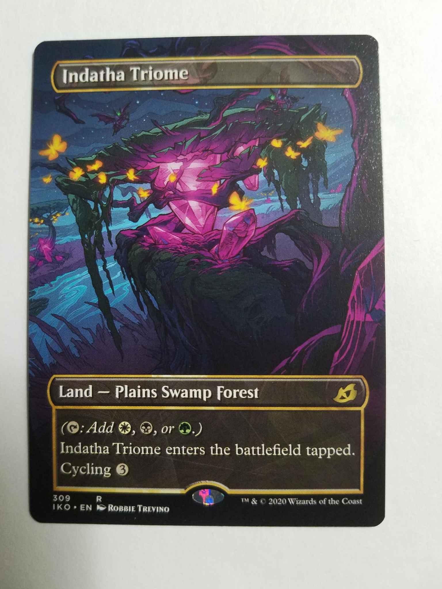 Indatha Triome Showcase Foil Rare NM Ikoria Lair of Behemoths 309//274 Magic the