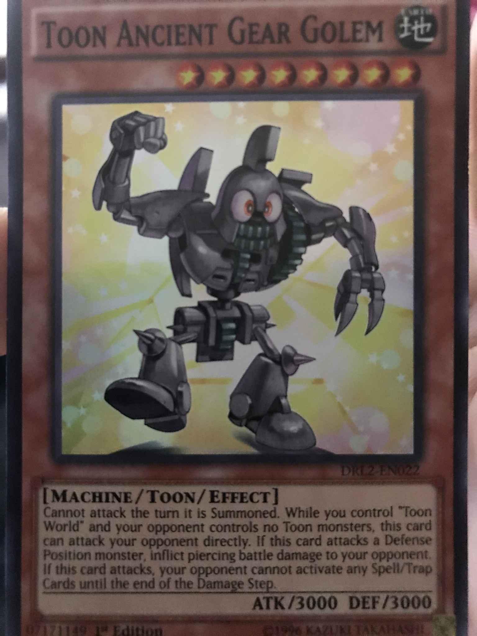 Yugioh Toon Ancient Gear Golem DRL2-EN022 1st Edition Super Rare