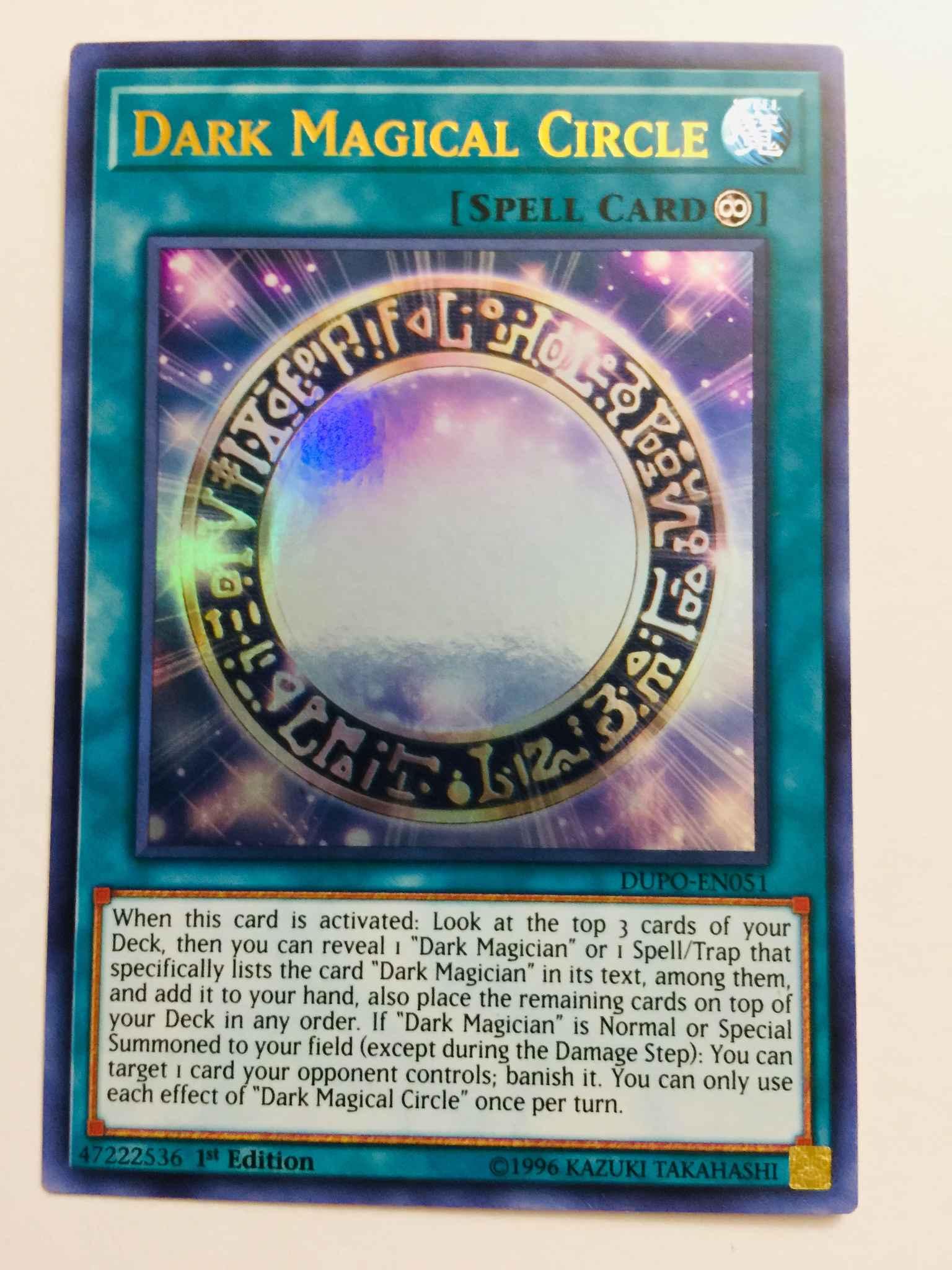 Dark Magical Circle Ultra Rare YUGIOH DUPO-EN051 1st Edition