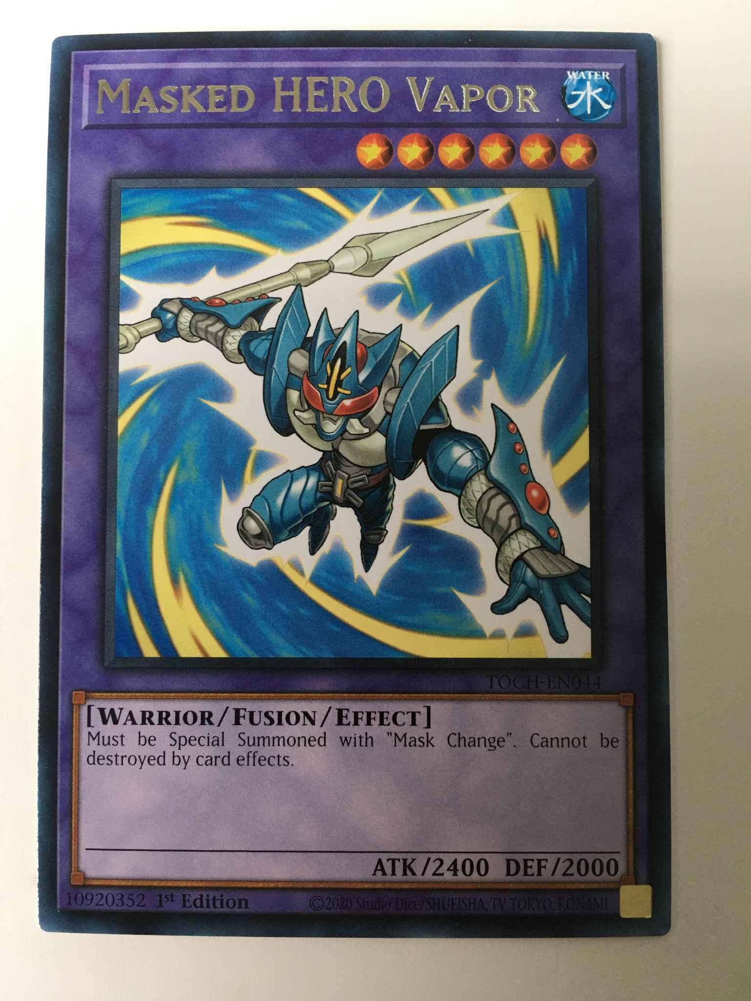 TOCH-EN044 Yu-Gi-Oh Card ***RARE*** Masked HERO Vapor