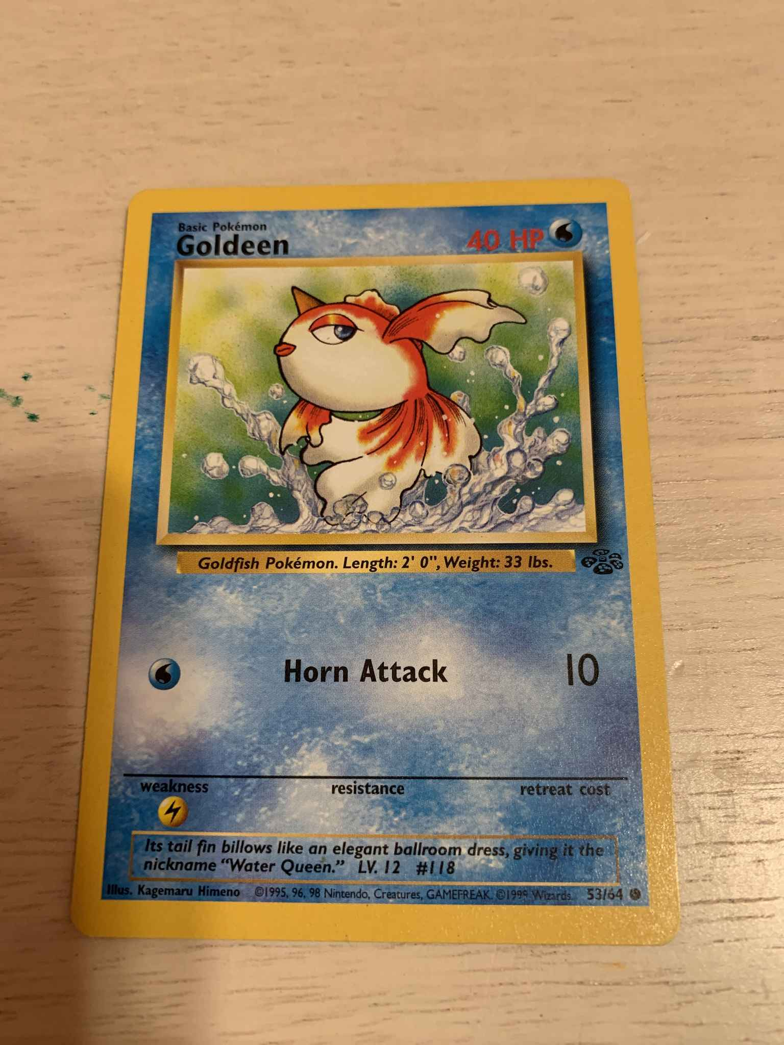 Goldeen 53//64 Jungle Pokemon Card