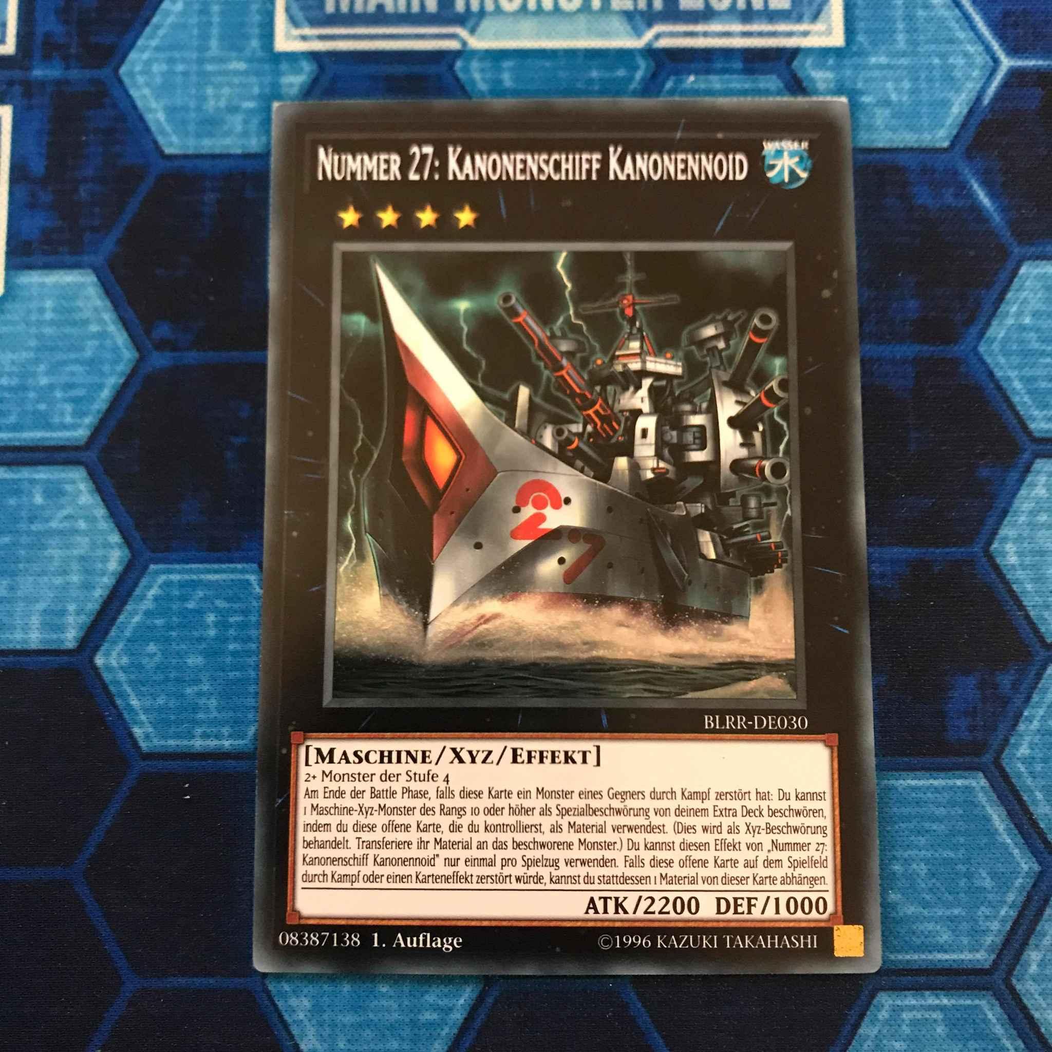 Yugioh Number 27:DreadNought Dreadnoid-Secret Rare-1st Edition-BLRR EN030