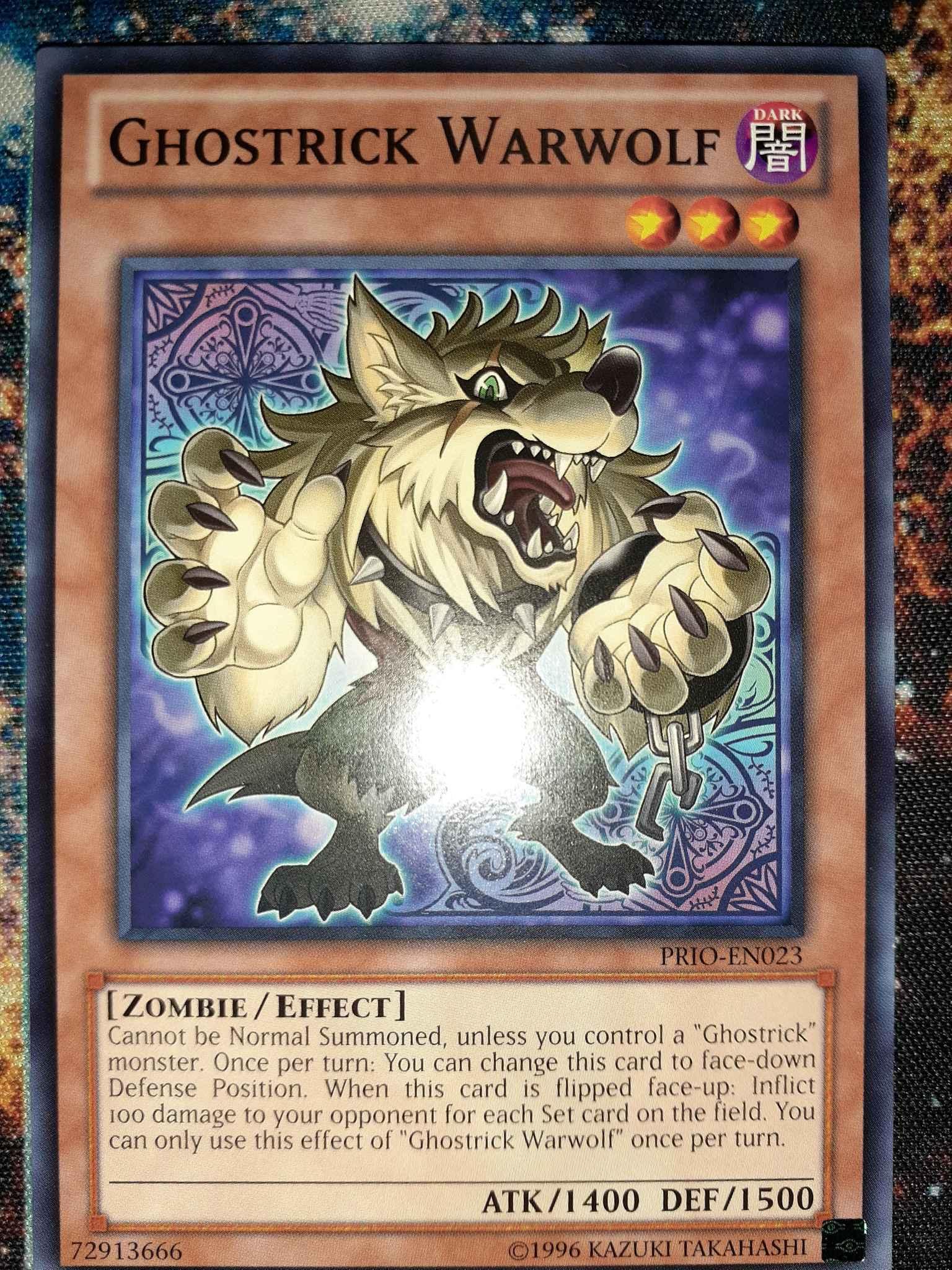 Ghostrick Warwolf Common Primal Origin Yugioh Card