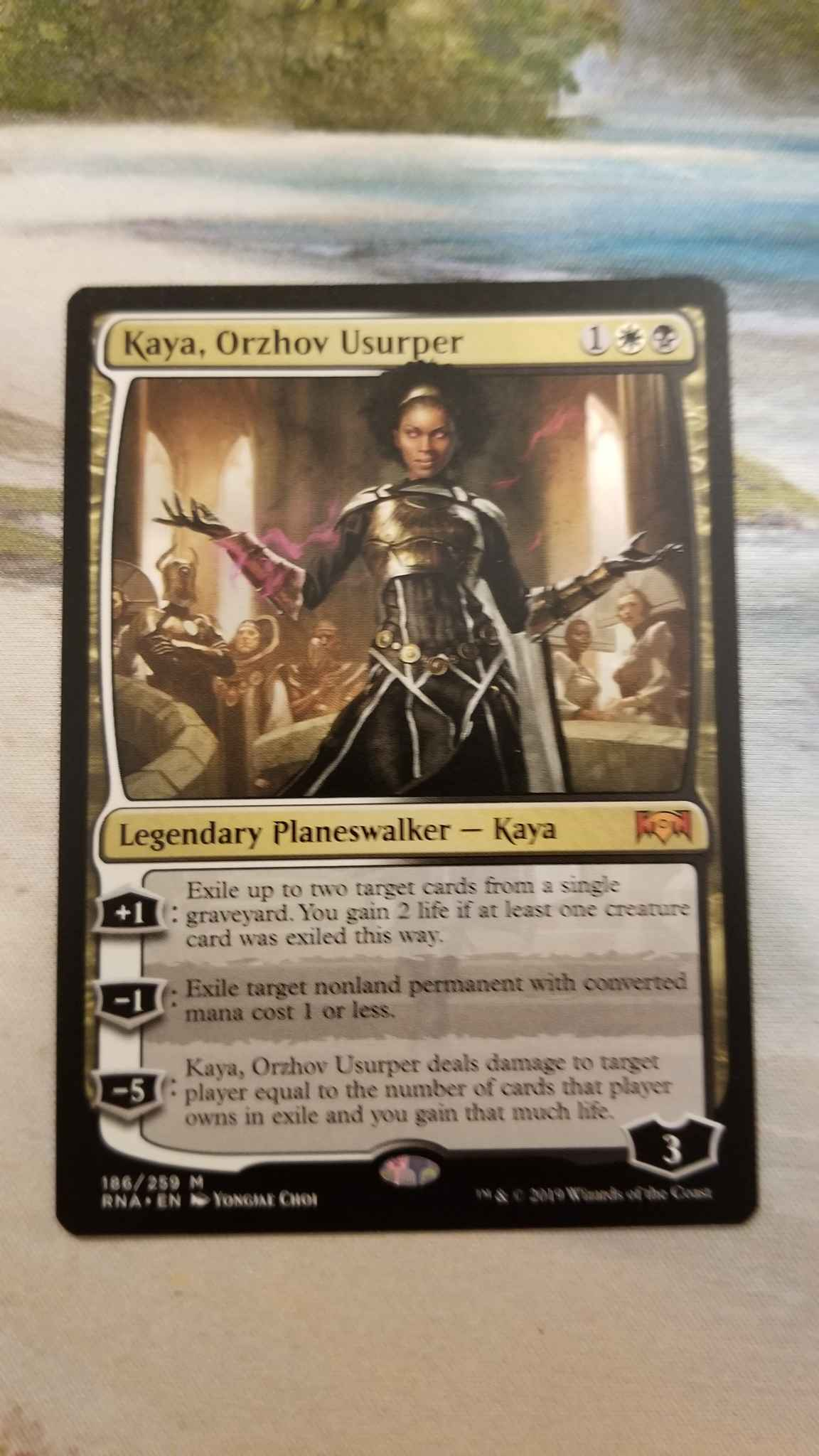 Kaya Orzhov Usurper Kaya Orzhov Usurper Ravnica Allegiance Magic The Gathering Online Gaming Store For Cards Miniatures Singles Packs Booster Boxes Kaya, orzhov usurper deals damage to target player equal to the number of cards that player owns in exile and you gain that much life. kaya orzhov usurper