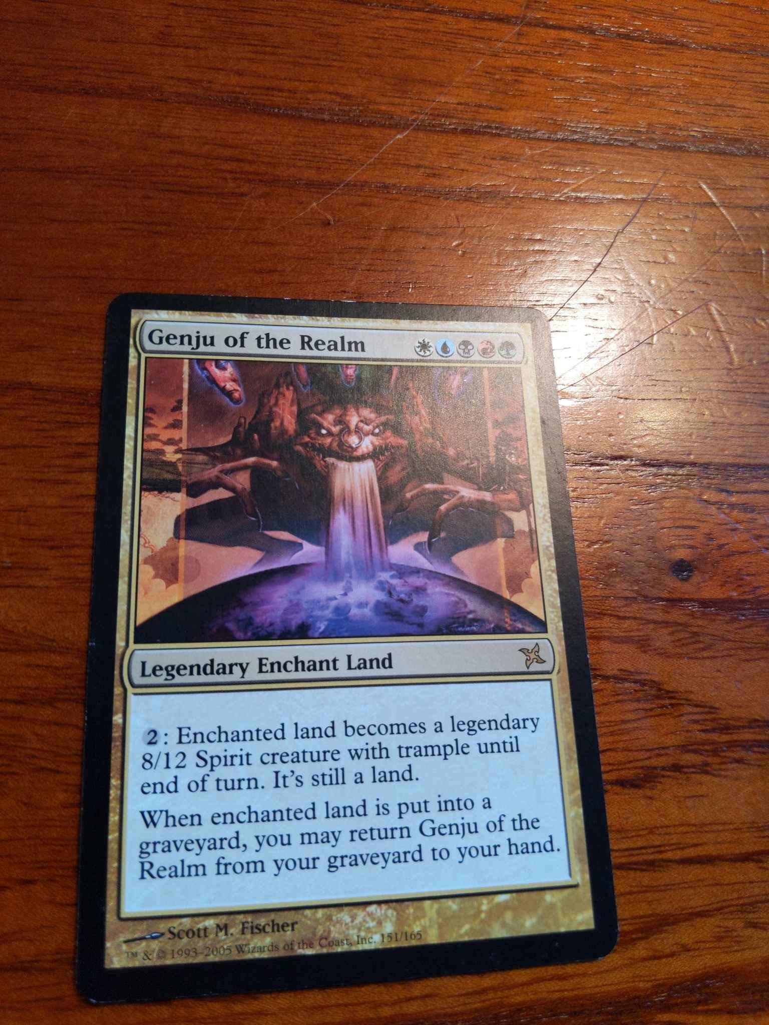 Genju of the Realm Betrayers of Kamigawa Slightly Played