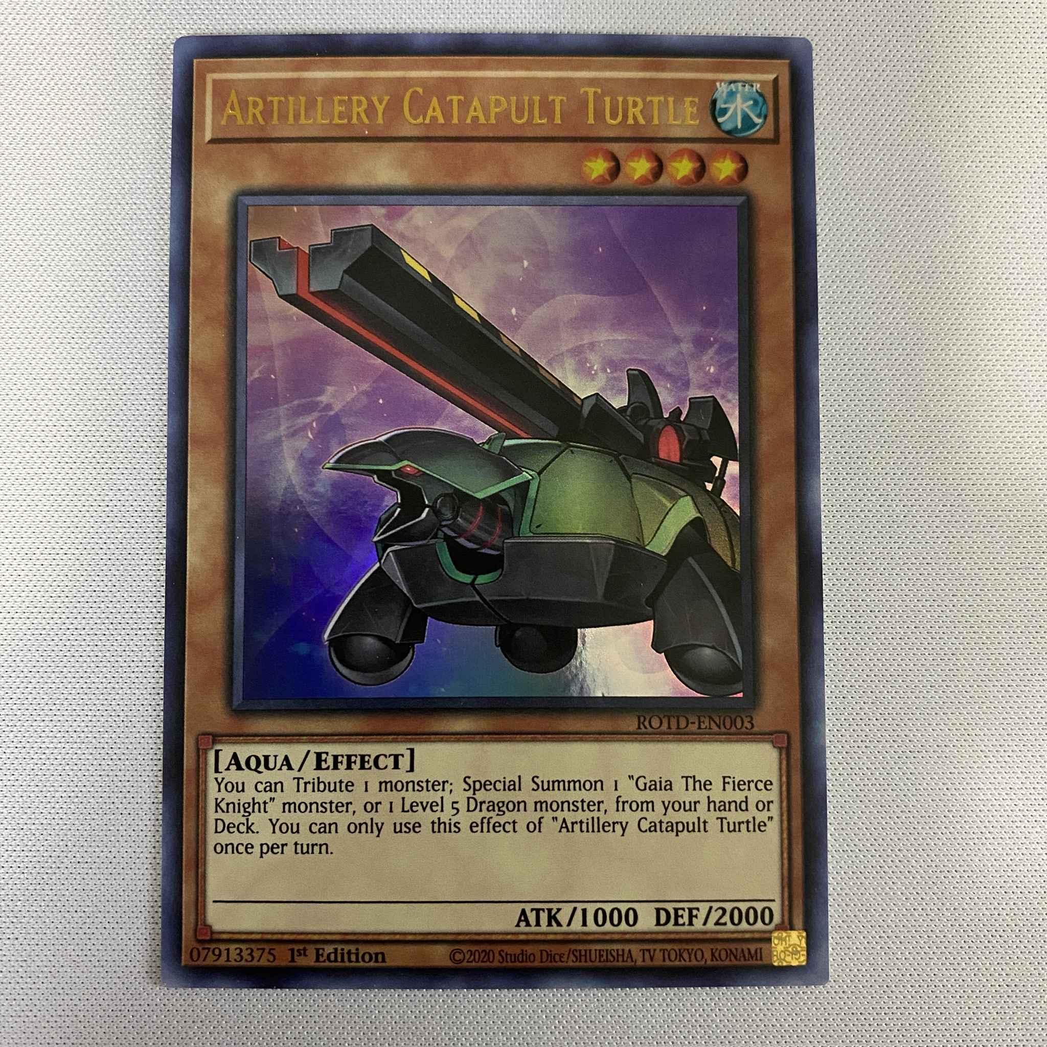 Artillery Catapult Turtle ROTD-EN003 Ultra Rare Yu-Gi-Oh Card 1st Edition