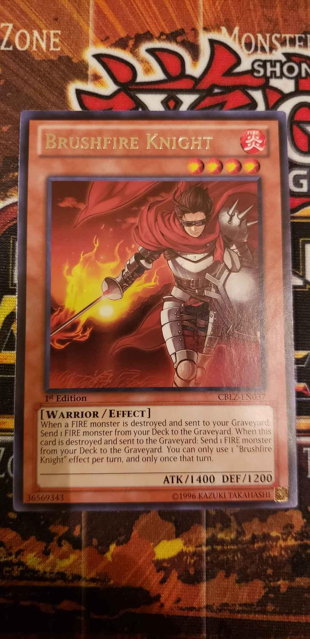 CBLZ-EN037 Brushfire Knight Rare Mint YuGiOh Card