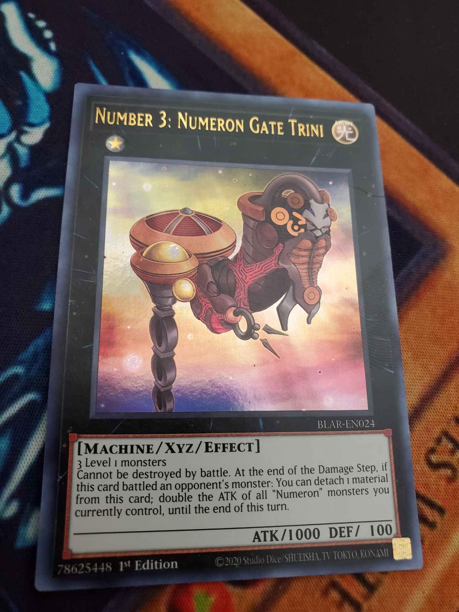 Ultra Rare Number 3: Numeron Gate Trini BLAR-EN024 1st Edition Near Mint