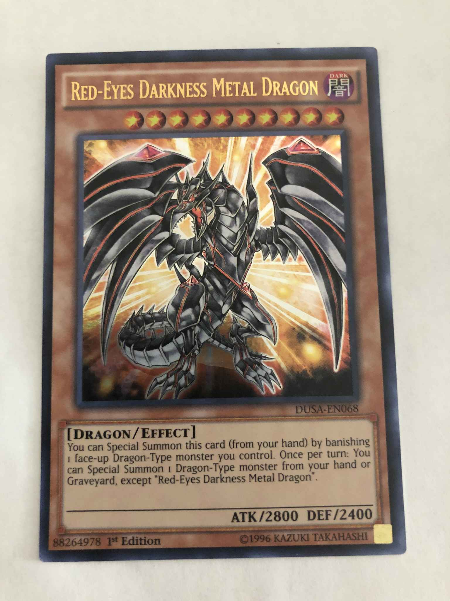 YuGiOh Red-Eyes Darkness Metal Dragon Ultra Rare DUSA-EN068 1st Edition Mint