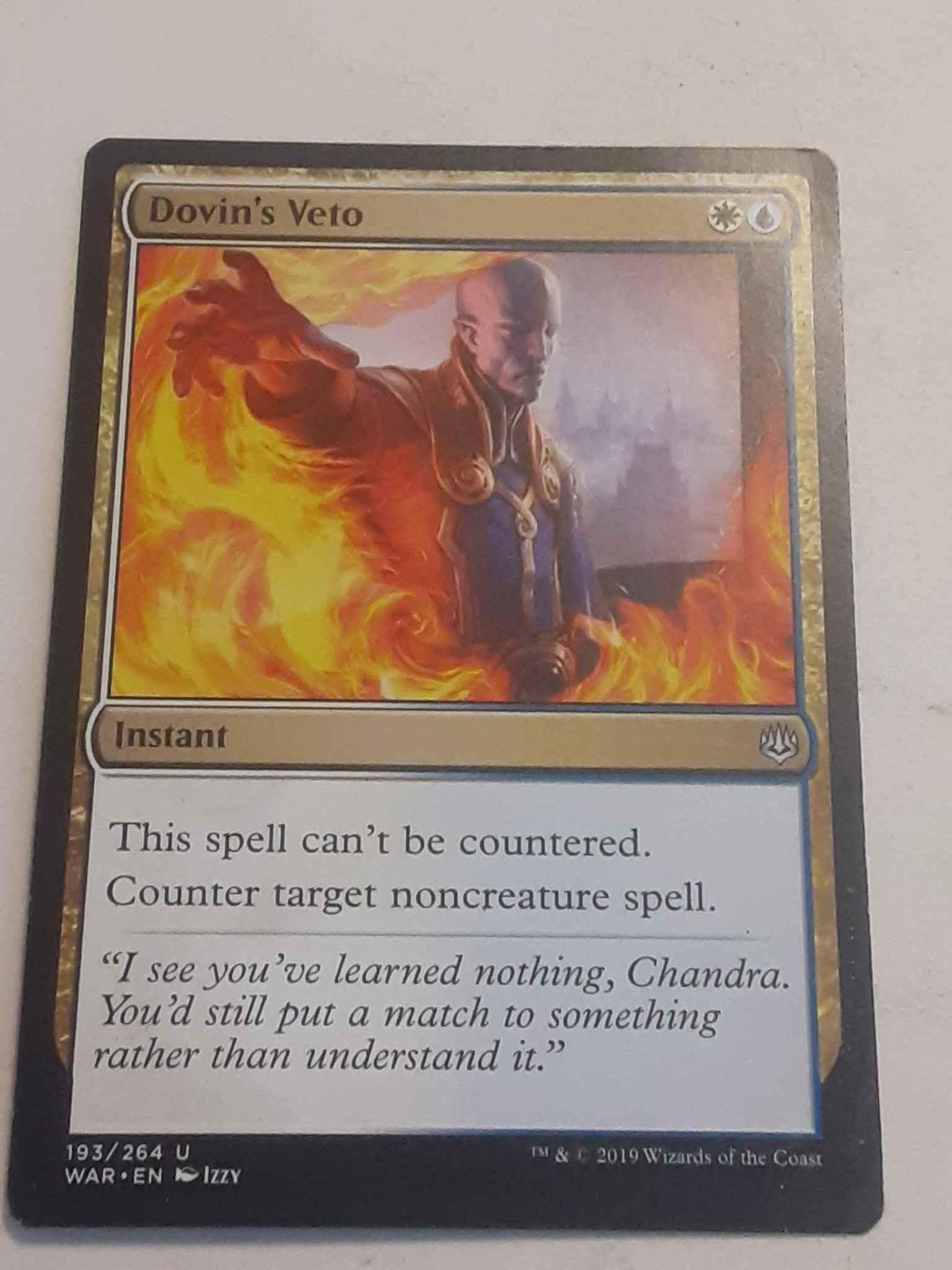 Dovin/'s Veto War of the Spark