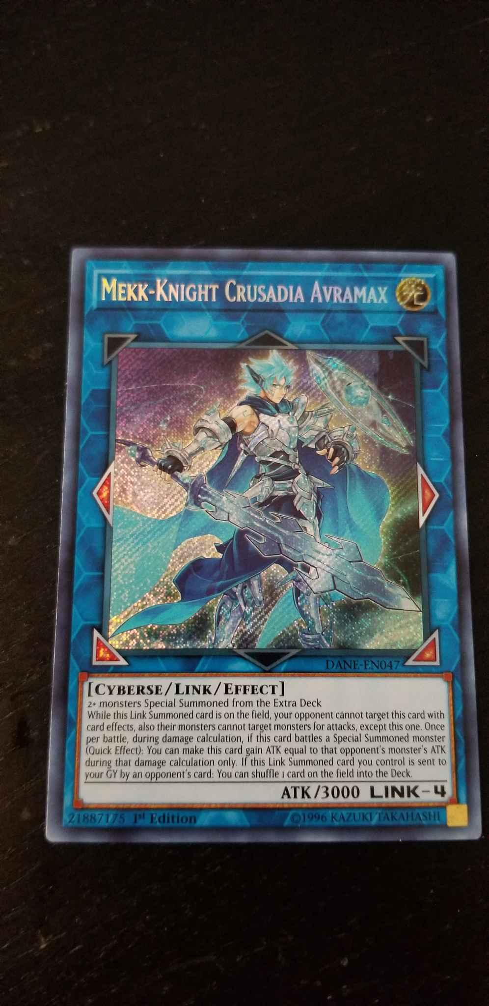 Mekk-Knight Crusadia Avramax DANE EN047 Secret Rare 1st Edition Yugioh