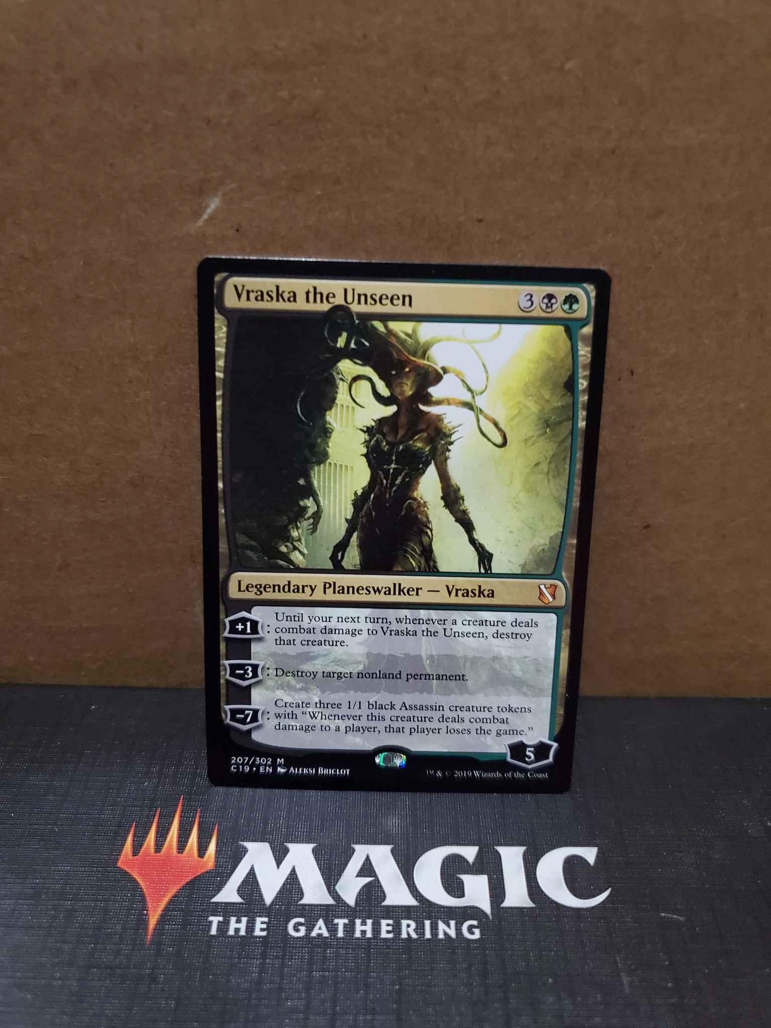 Vraska the Unseen Near Mint Normal English Magic Card Commander 2019 MTG TCG