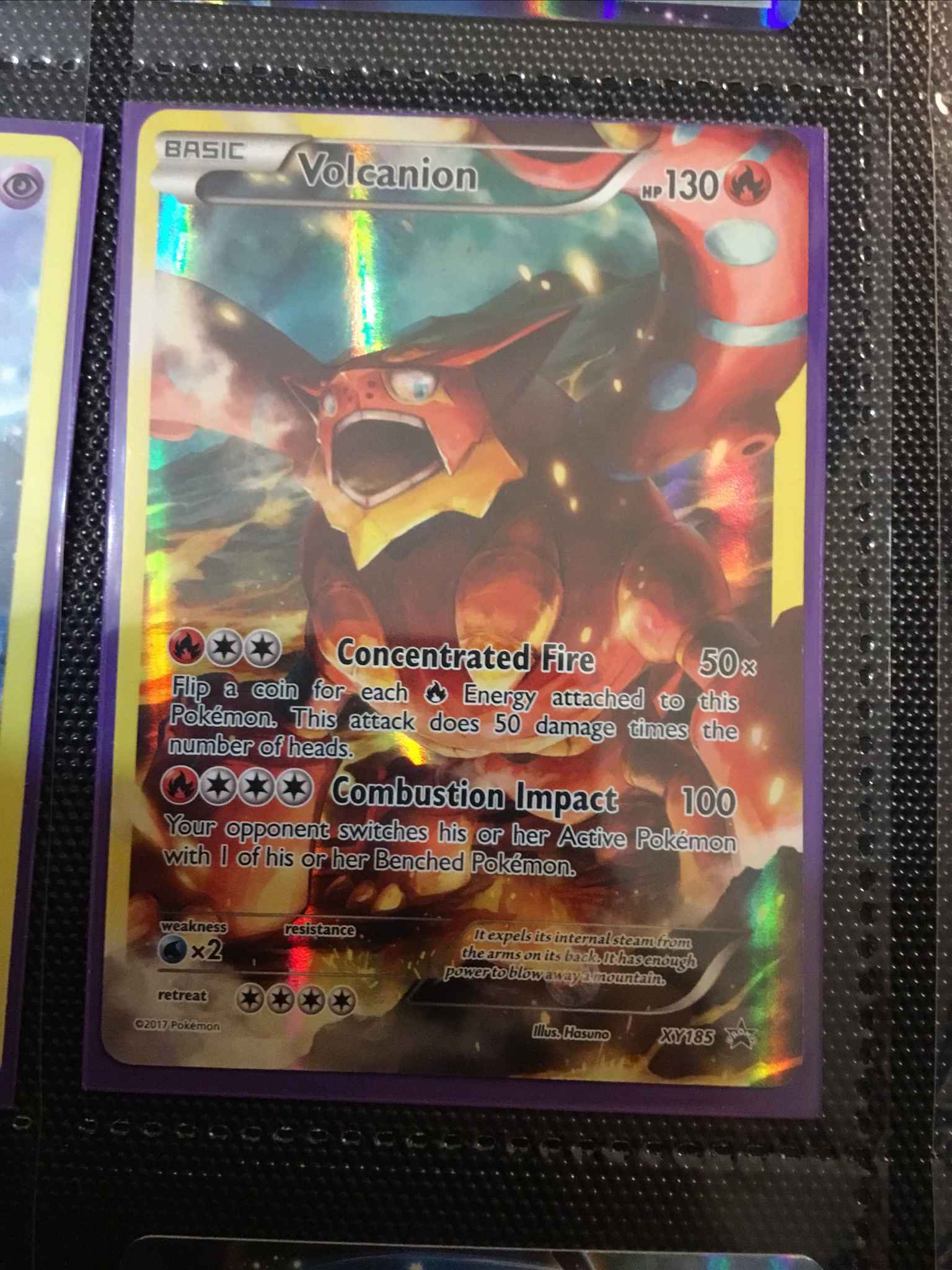 Volcanion XY185 Holofoil Mint Pokemon Promo Card