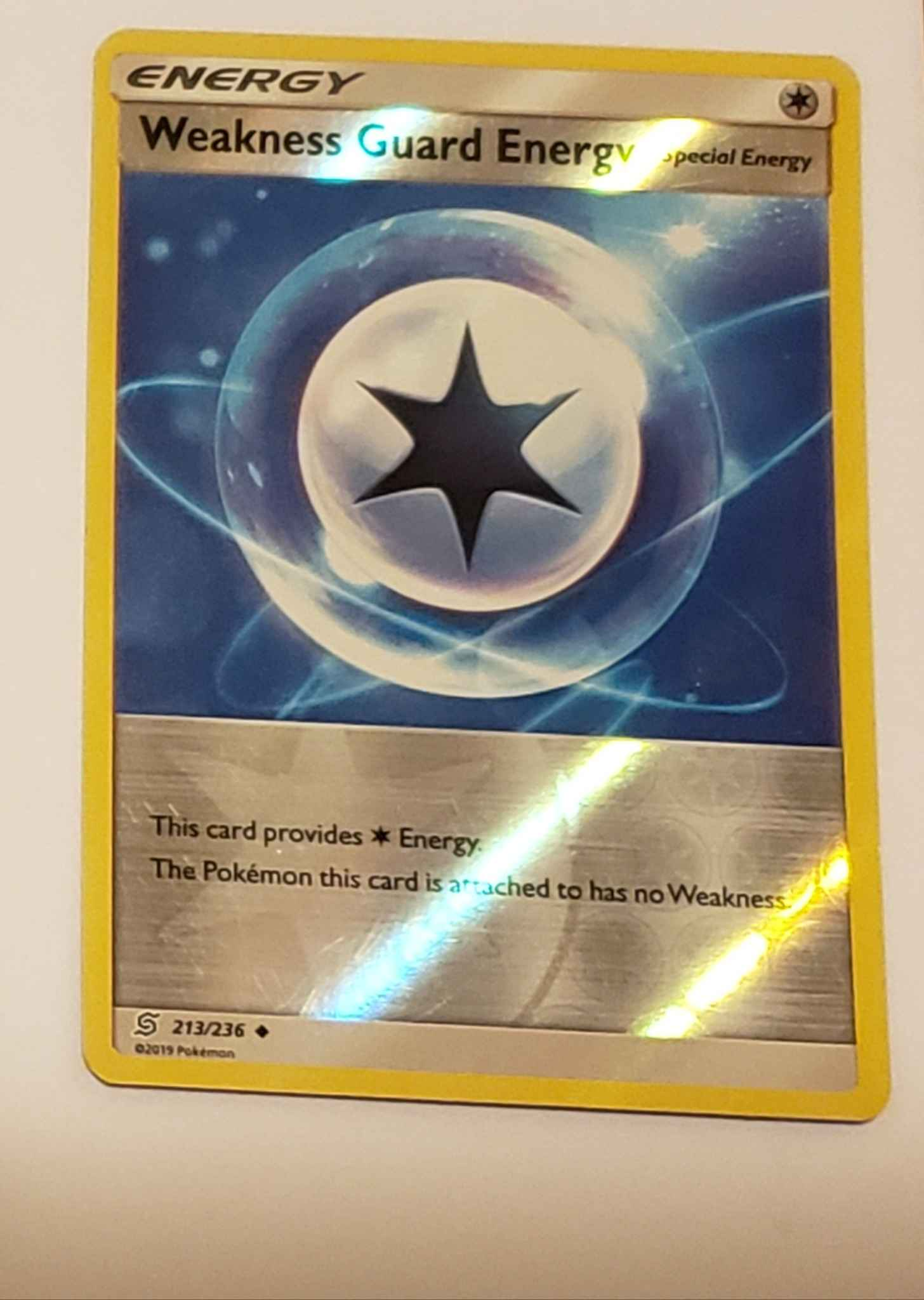 Pokemon SM UNIFIED MINDS WEAKNESS GUARD ENERGY 213//236 UNCOMMON