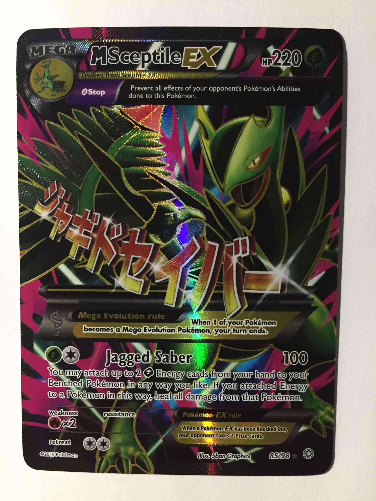 Pokemon Full Art M Sceptile EX 85//98 XY Ancient Origins