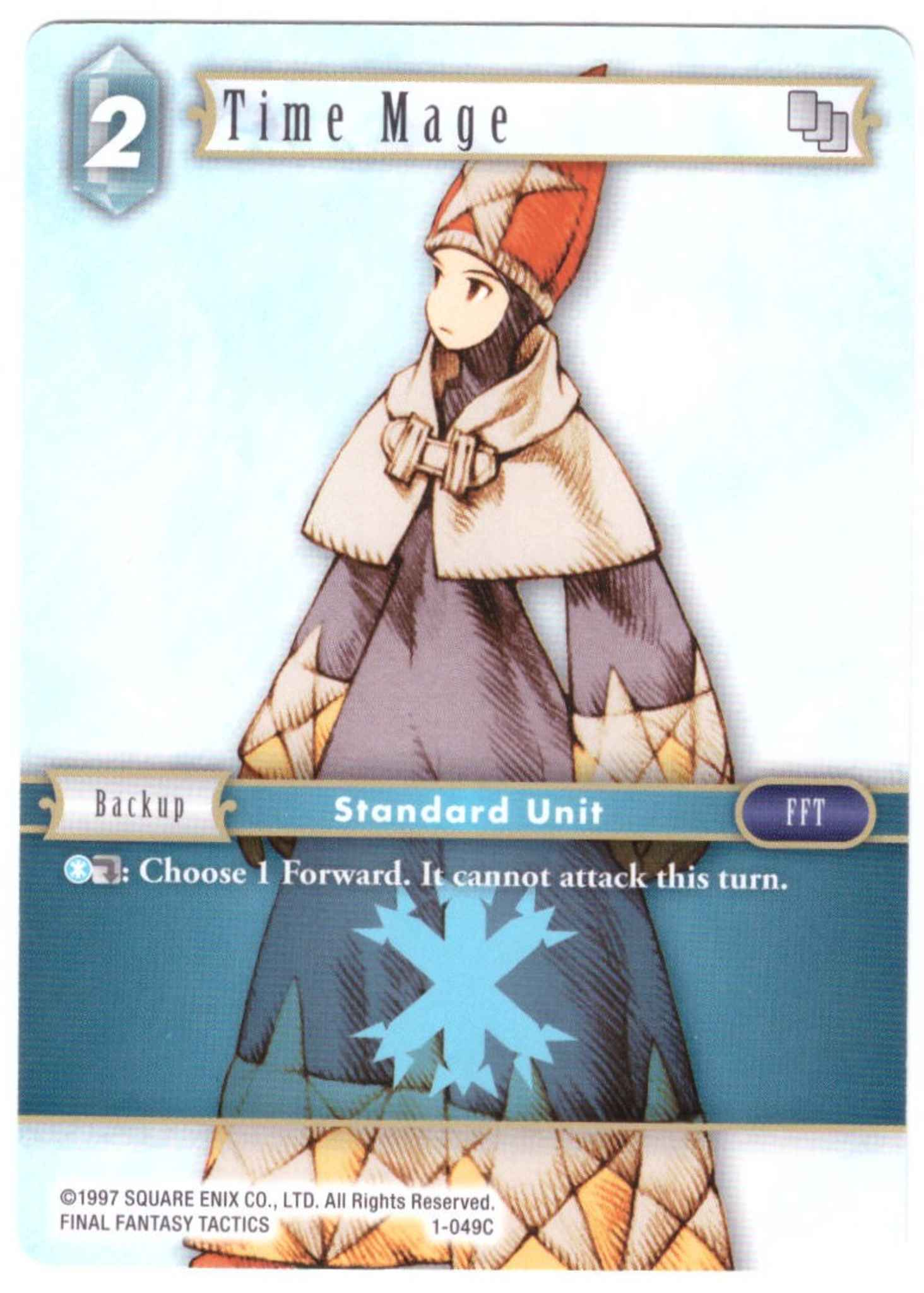 Common Ice Time Mage 1-049C Final Fantasy TCG: Opus 1