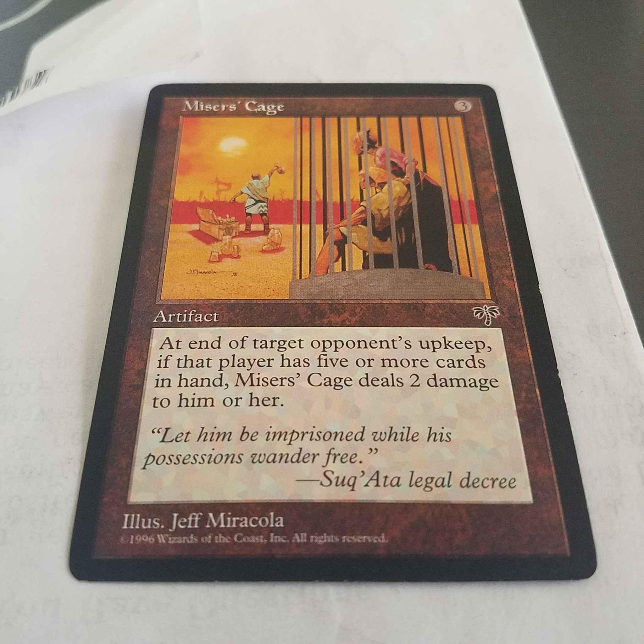 *MRM* ENGLISH Cage des avares Misers/' Cage MTG Magic MIR