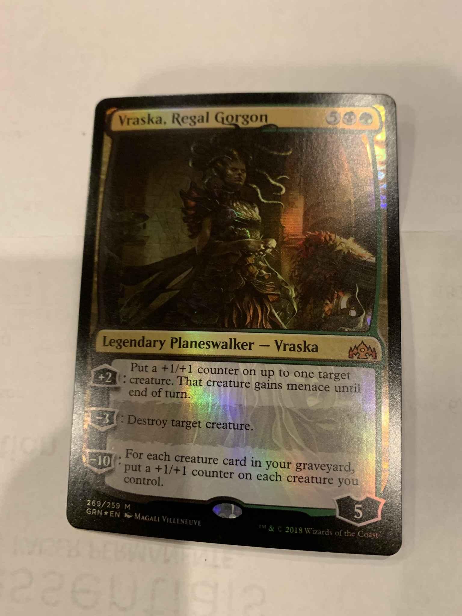 FOIL Vraska Magic MTG NearMint Regal Gorgon ~ Guilds of Ravnica