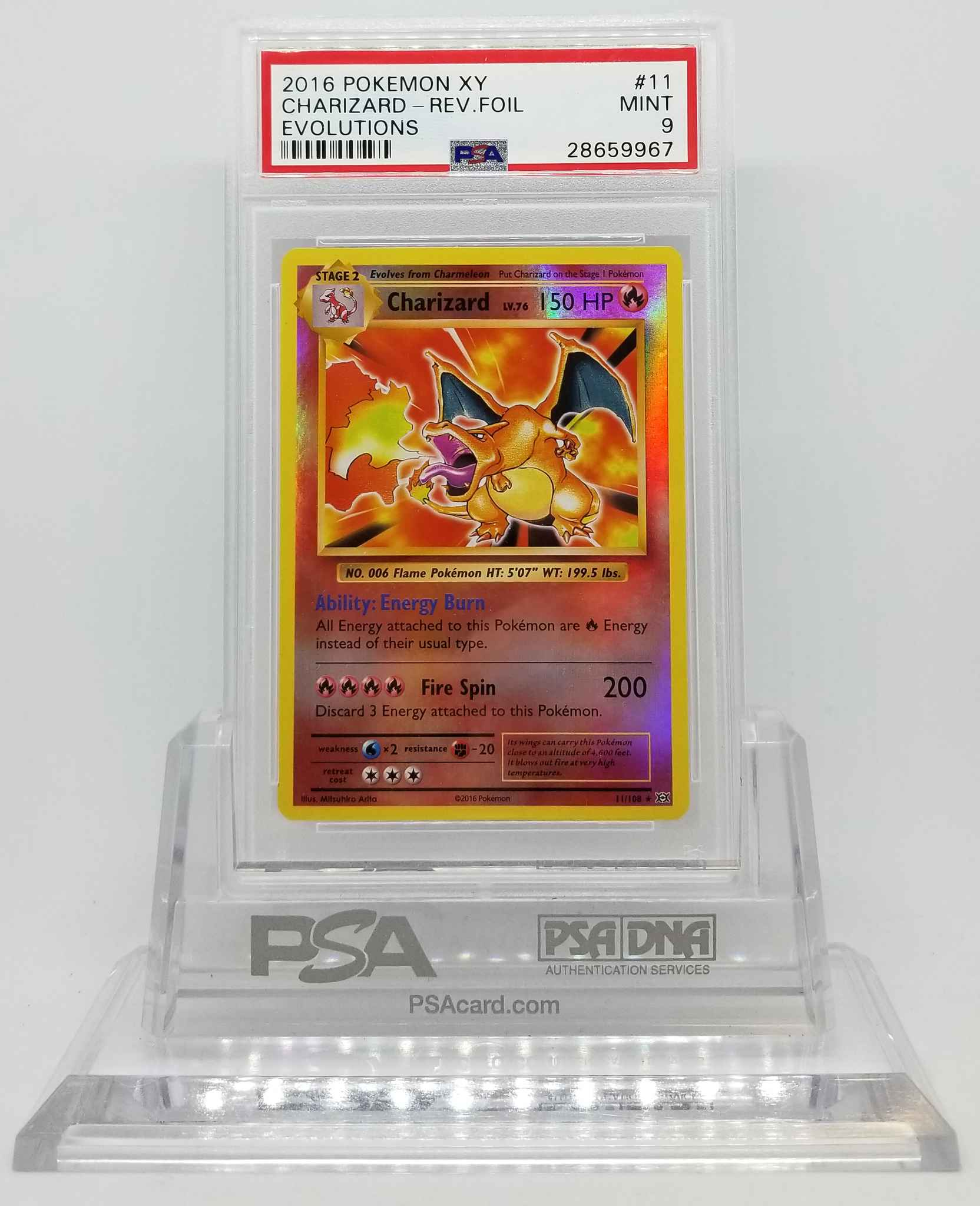 Charizard 11//108 Evolutions Reverse Holo Mint Pokemon Card