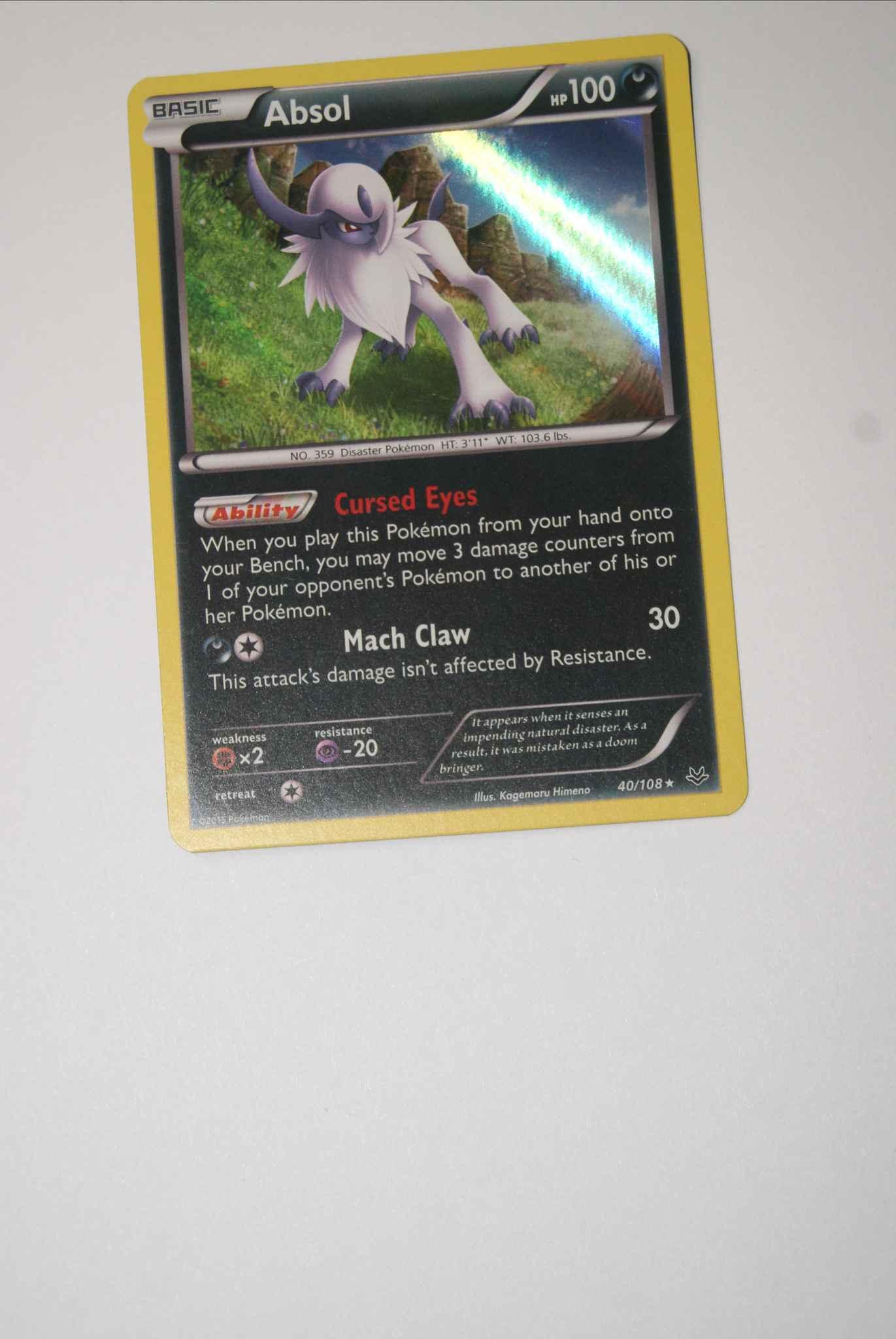 Absol 40//108 Roaring Skies Rare Holo Mint Pokemon Card