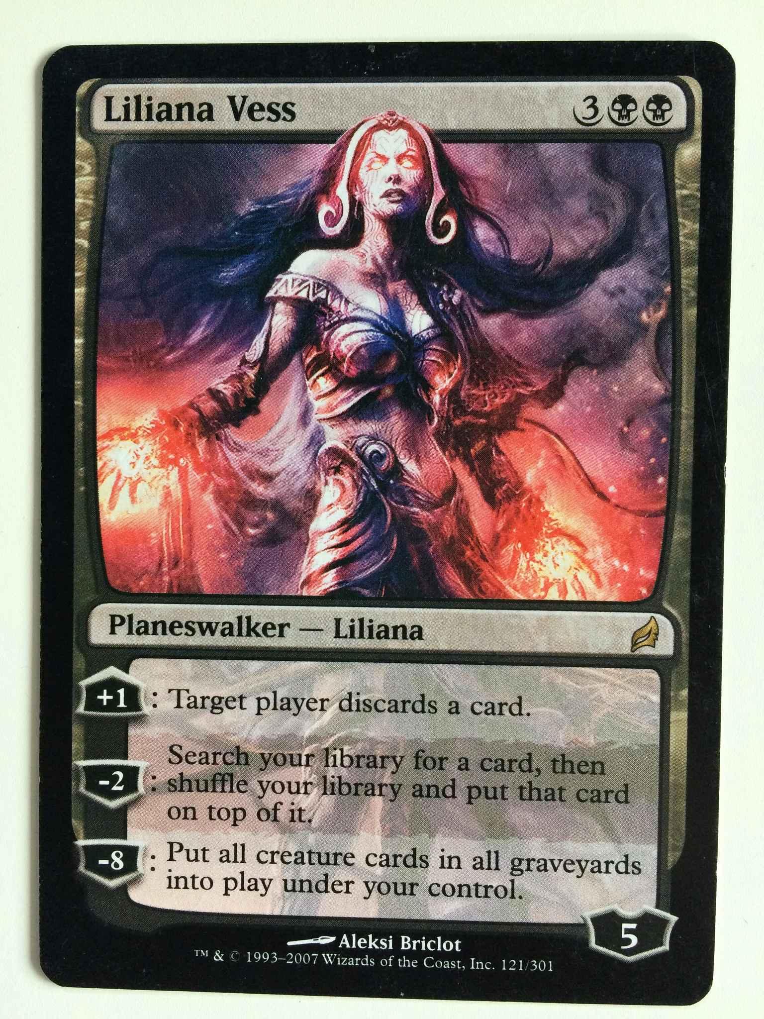 Magic Liliana Vess the Gathering Lorwyn