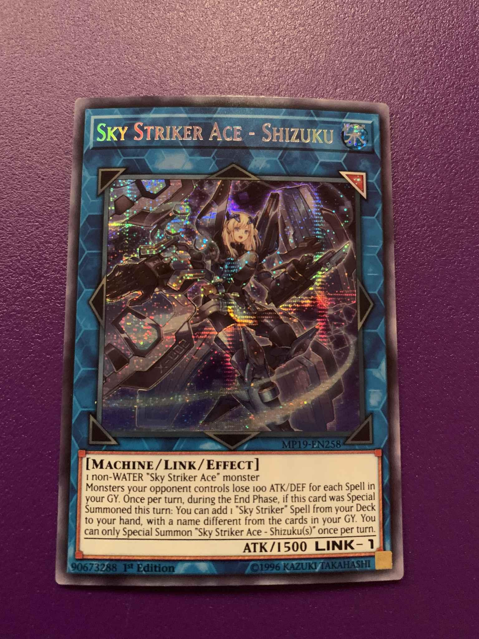 MP19-EN258 2019 Gold Sarcophagus Tin Mega Pack Shizuku Sky Striker Ace