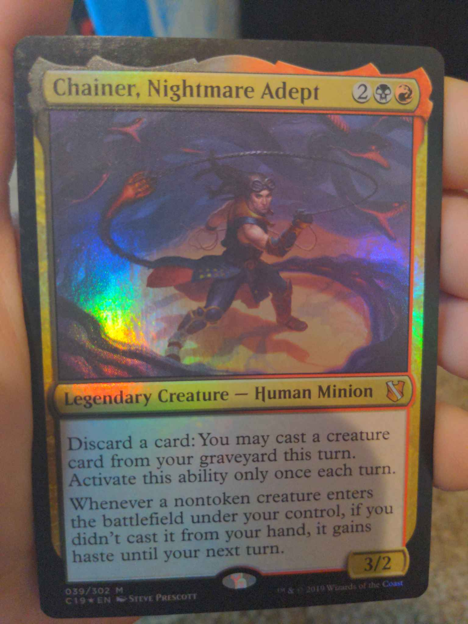 Foil 039//302 Chainer Nightmare Adept Commander 2019**NM**MTG