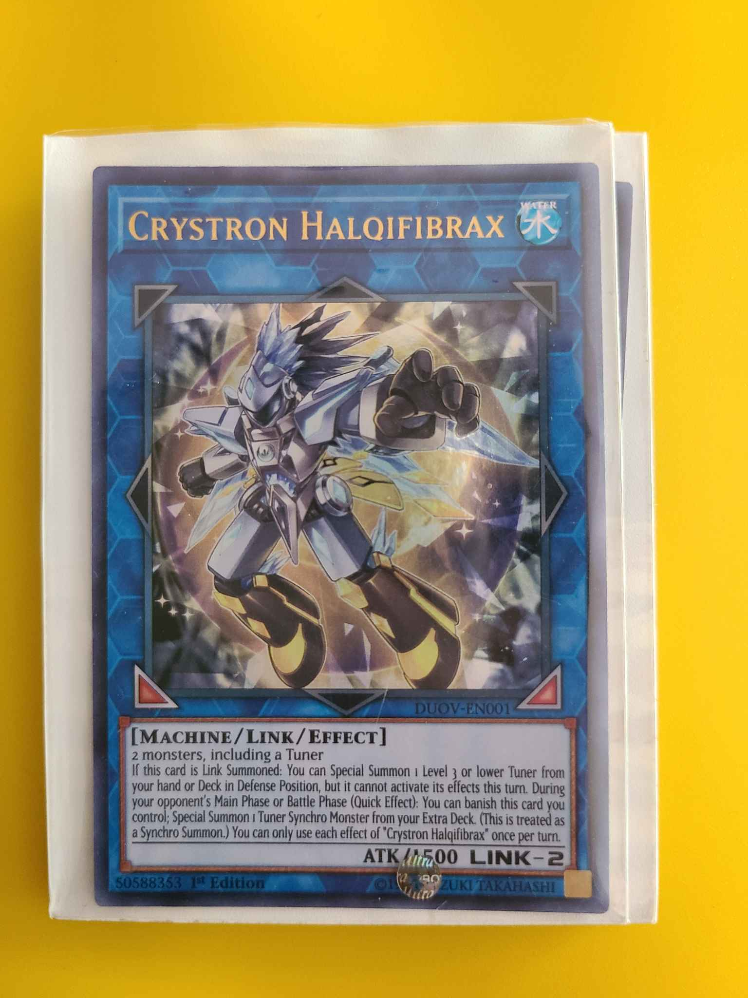 Crystron Halqifibrax Yugioh Duel Overload in hand ready to ship!