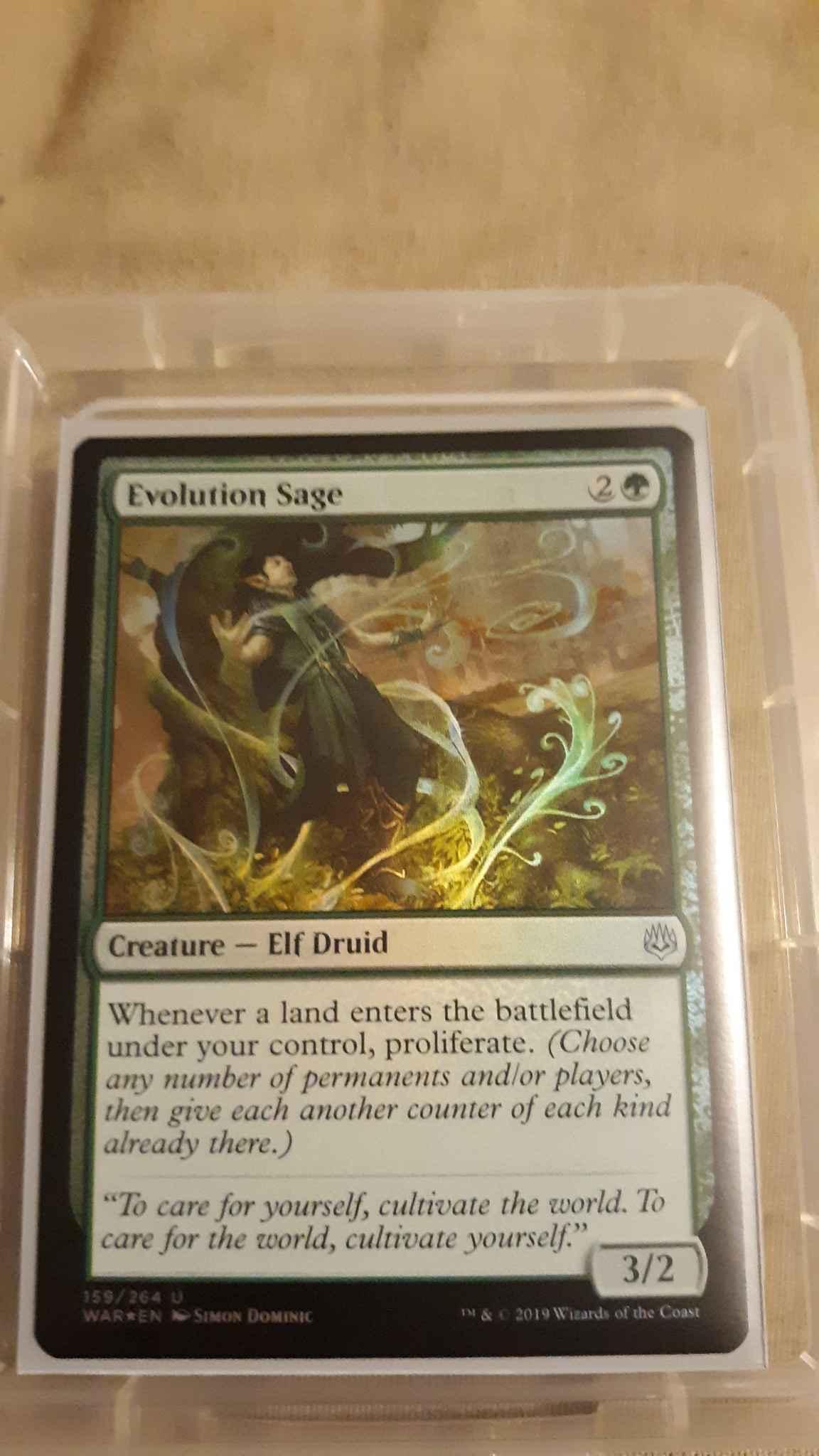 Magic the Gathering MTG War of the Spark Evolution Sage 159//264