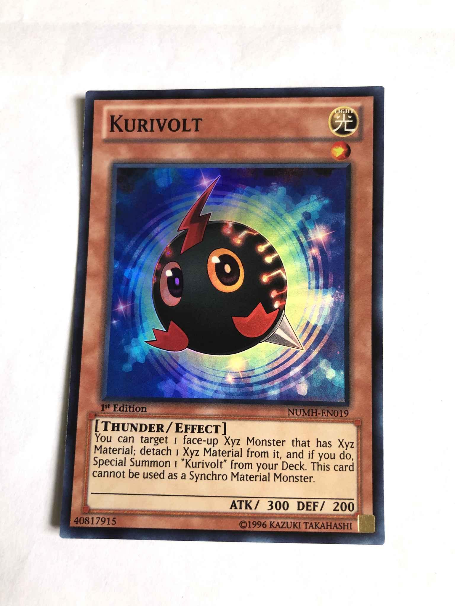 1st Edition Near Mint YuGiOh Kurivolt Super Rare NUMH-EN019