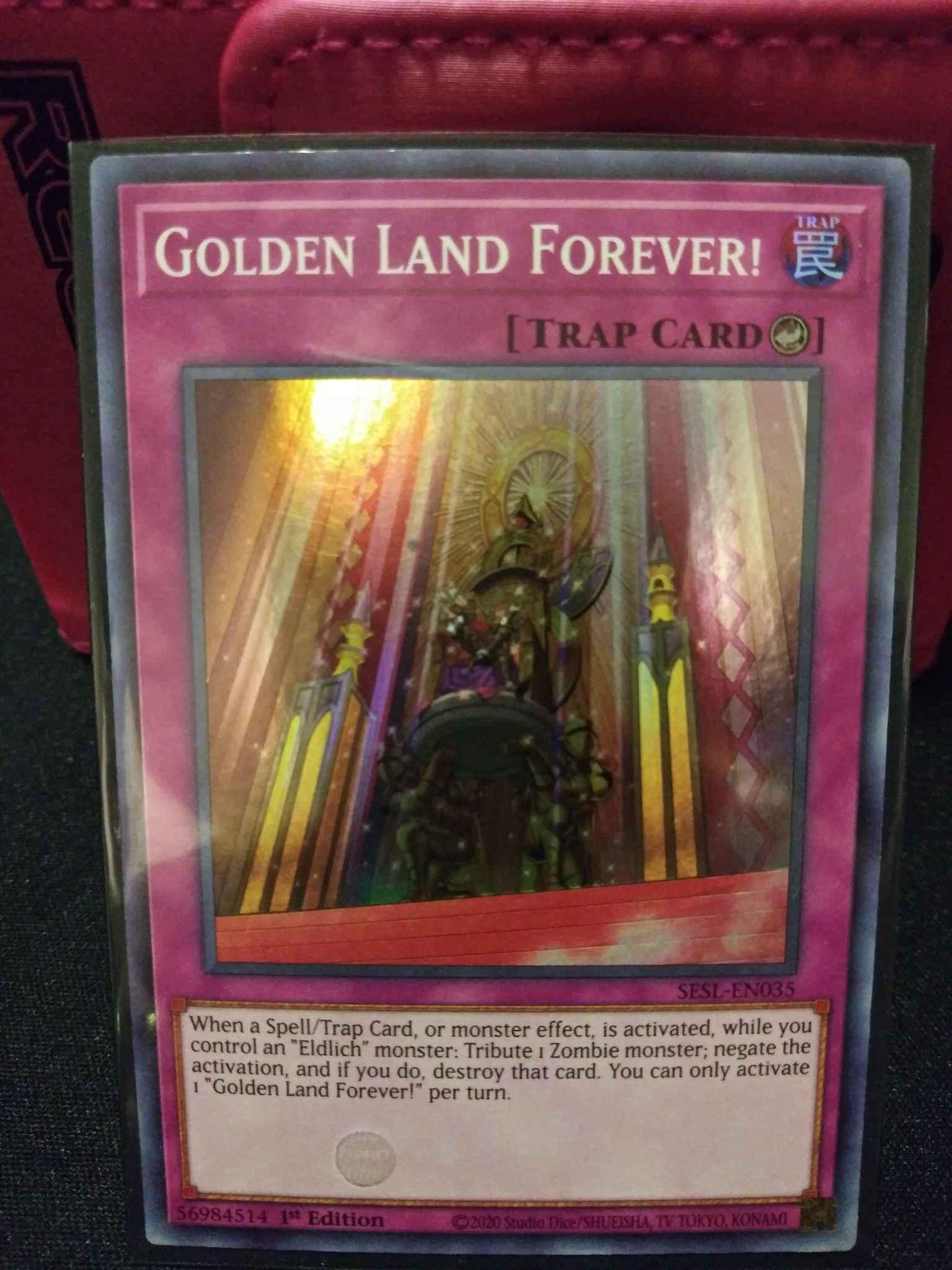 1st EditionYuGiOh Golden Land Forever! SESL-EN035 Super Rare