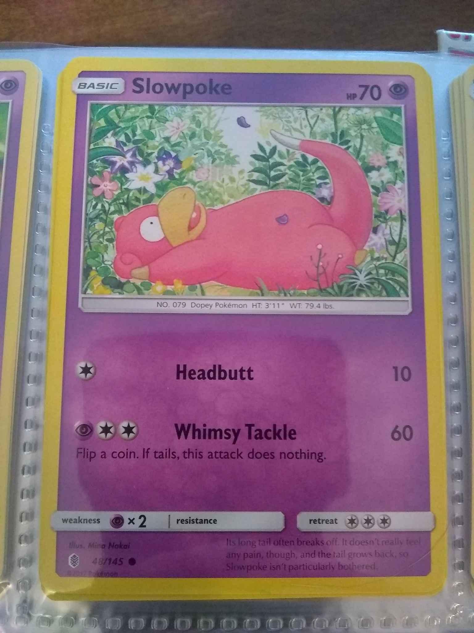 Slowpoke 48//145 Guardians Rising Reverse Holo Mint Pokemon Card