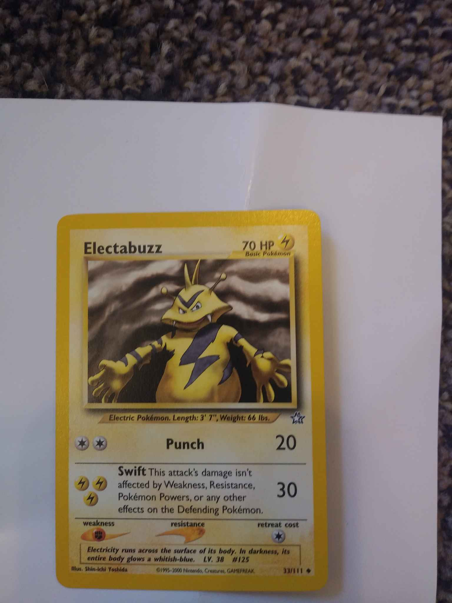 Pokemon Neo Genesis Uncommon Card #33//111 Electabuzz