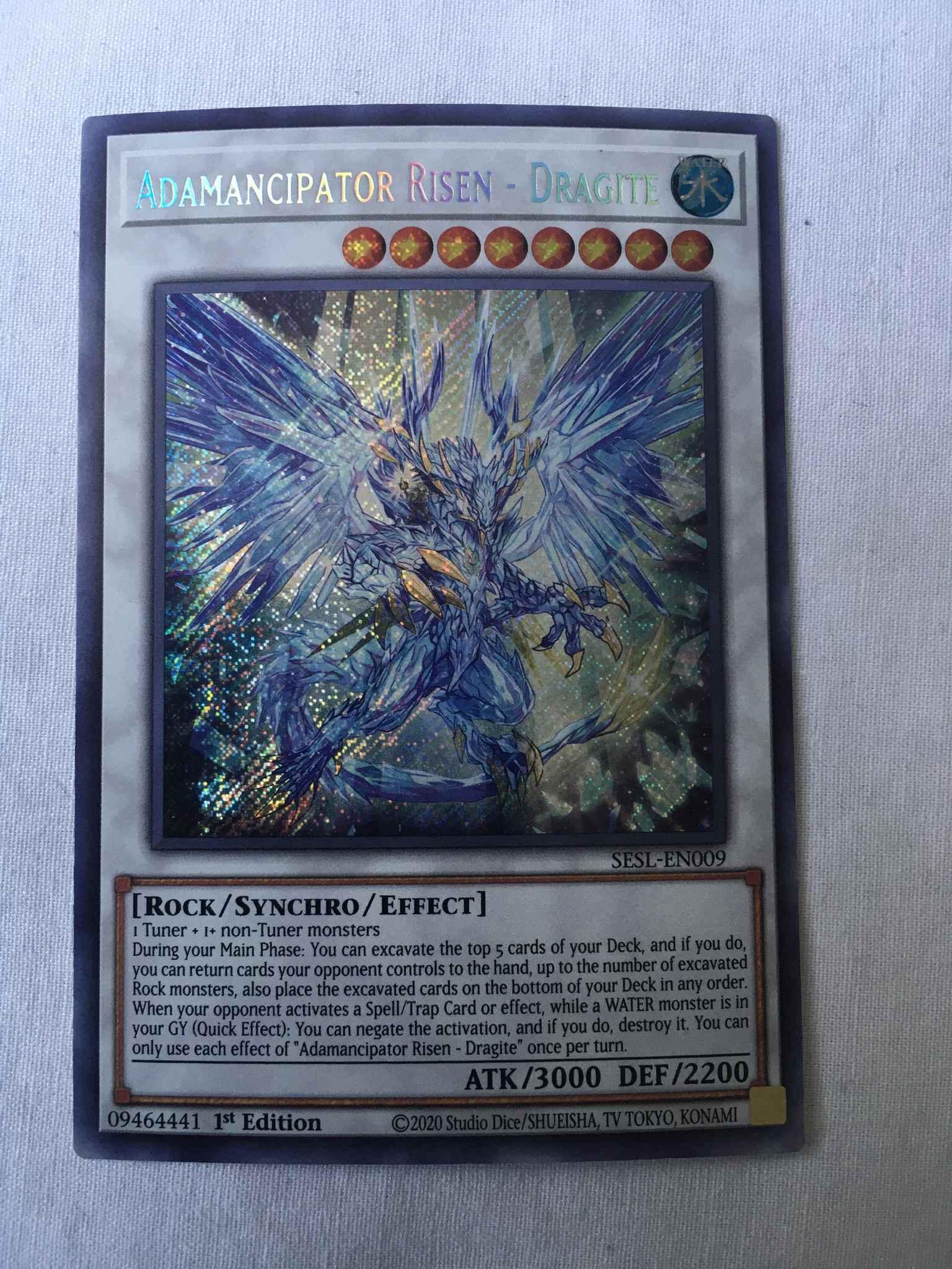 Yu-Gi-Oh NM Dragite SESL-EN009-1st Edition Adamancipator Risen