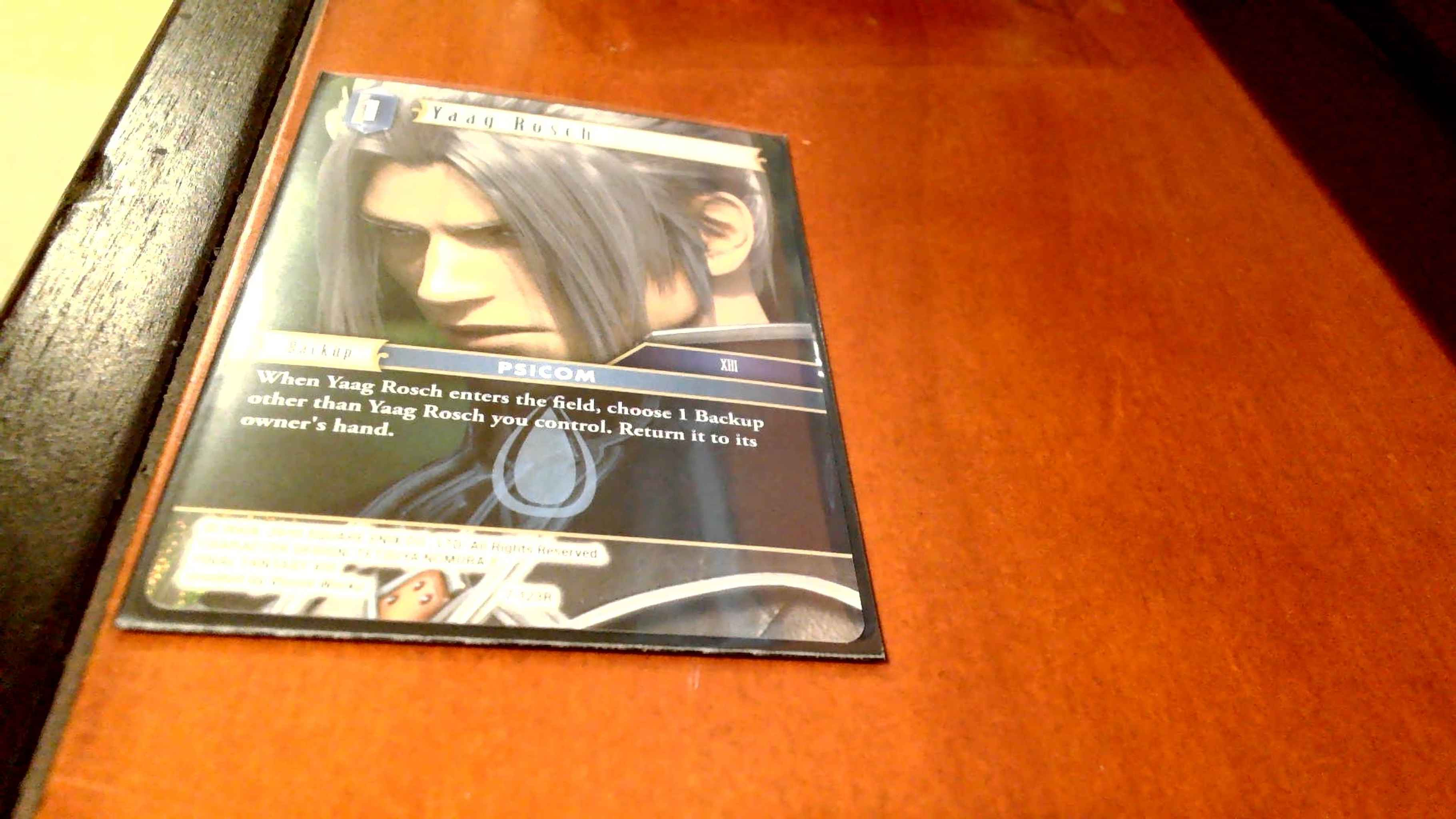 Yaag Rosch 7-123R Rare Water Final Fantasy TCG: Opus 7