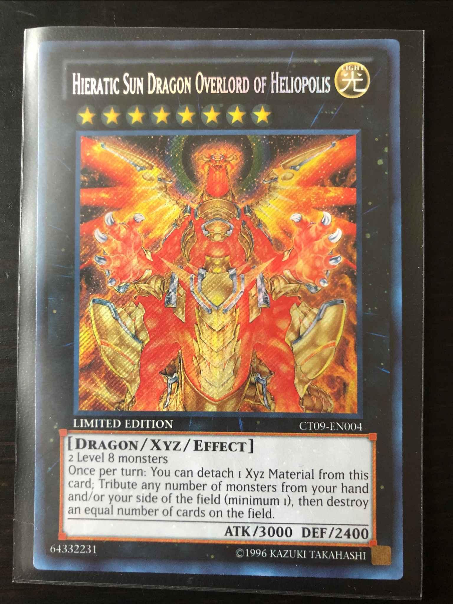 Hieratic Sun Dragon Overlord of Heliopolis Limited Secret Rare CT09-EN004